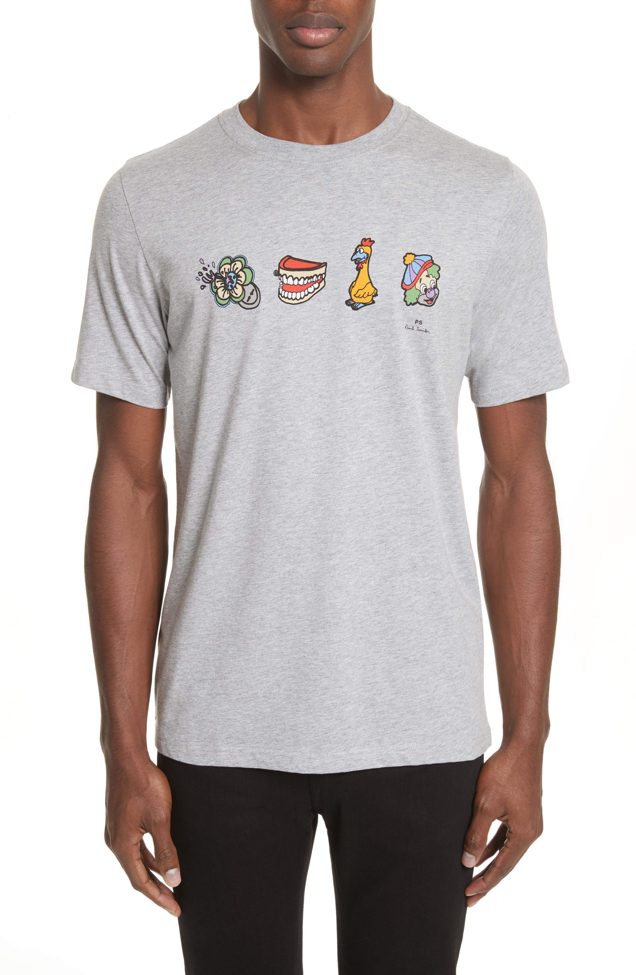 Clown Graphic T-Shirt,                             Main thumbnail 1, color,                             Grey