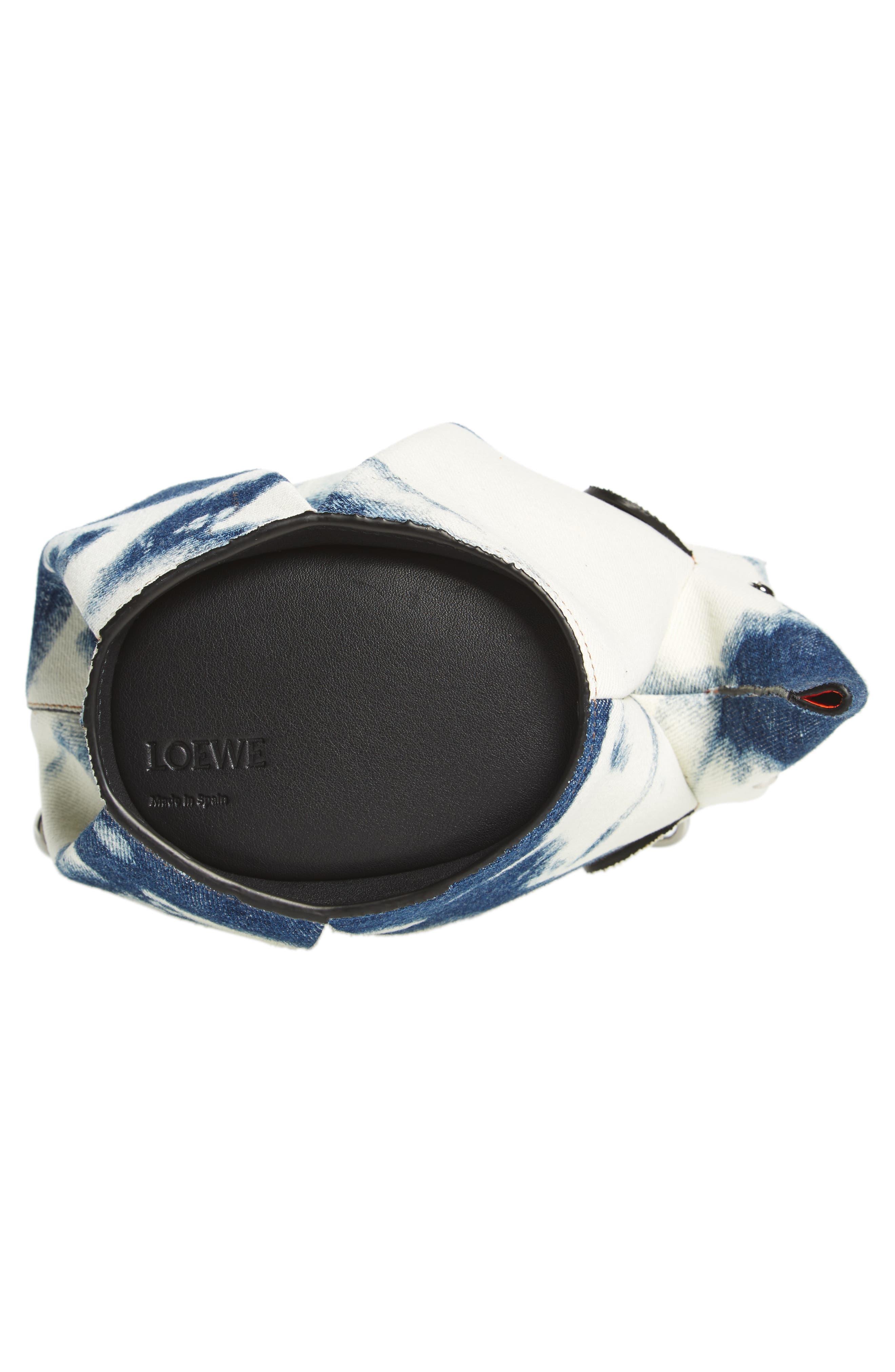 Denim Elephant Crossbody Bag,                             Alternate thumbnail 6, color,                             Blue Denim/ White/ Black