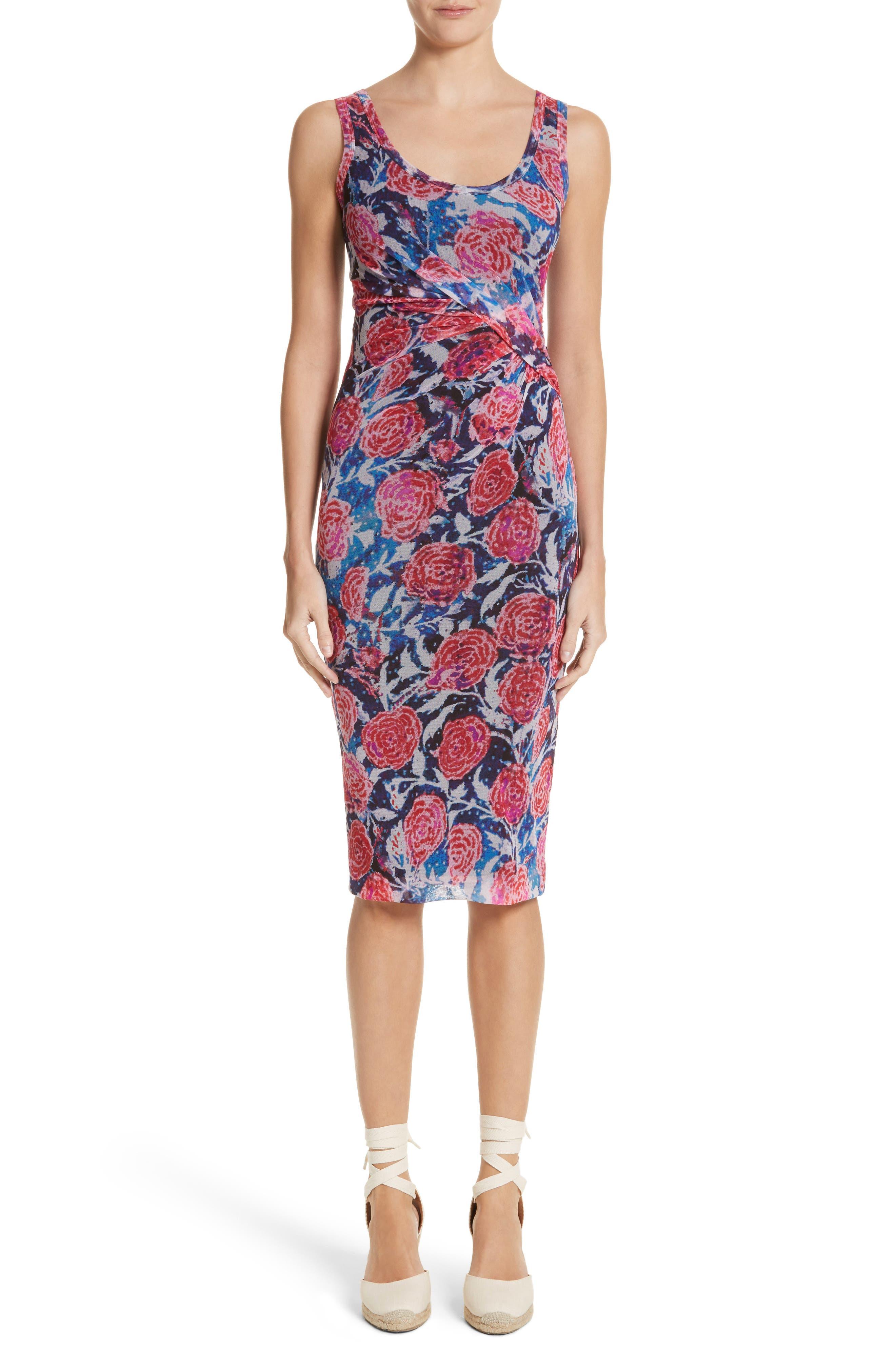 Print Tulle Tank Dress,                             Main thumbnail 1, color,                             Copiativc