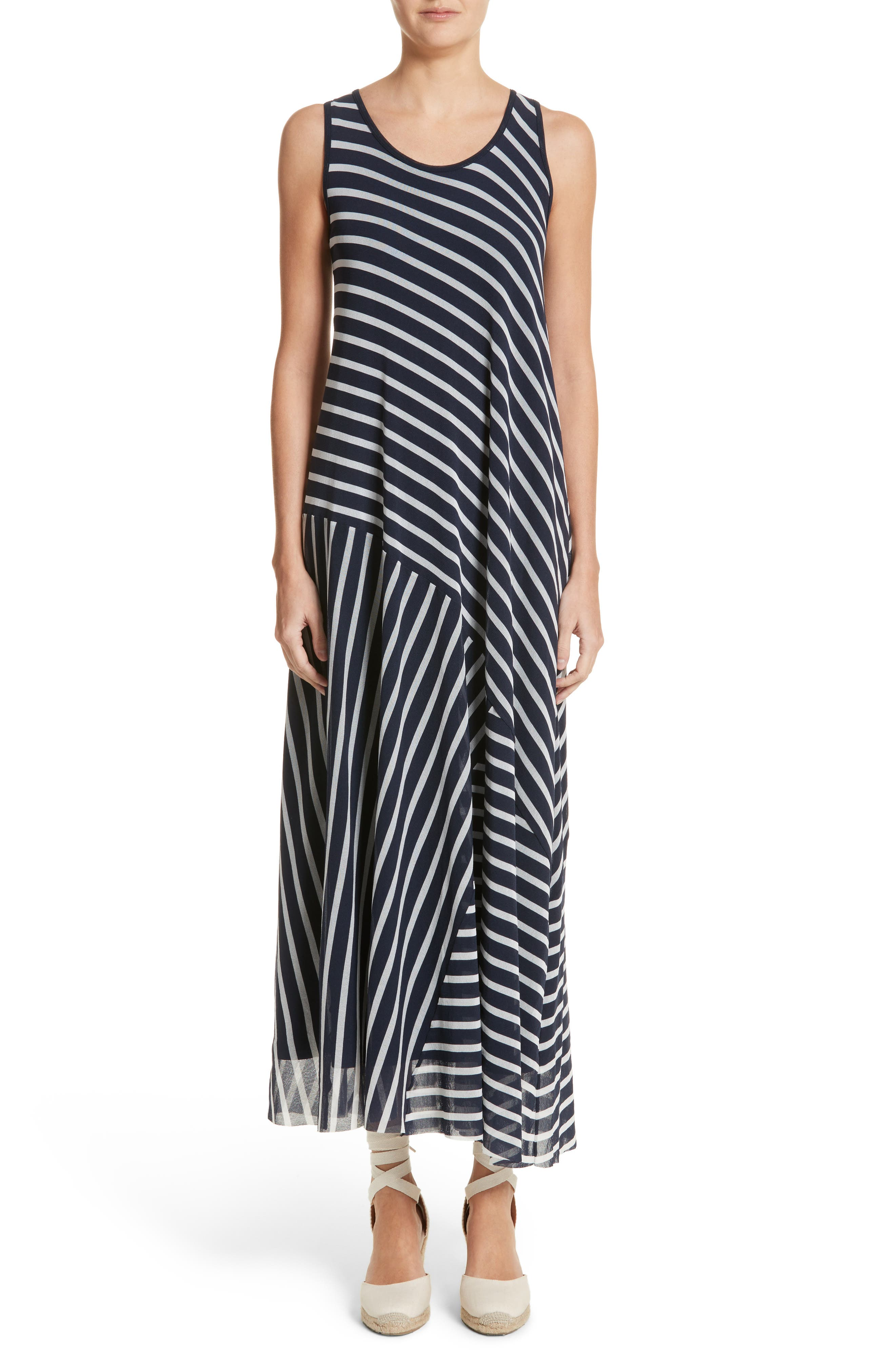 Stripe Maxi Tank Dress,                             Main thumbnail 1, color,                             Zaffiro