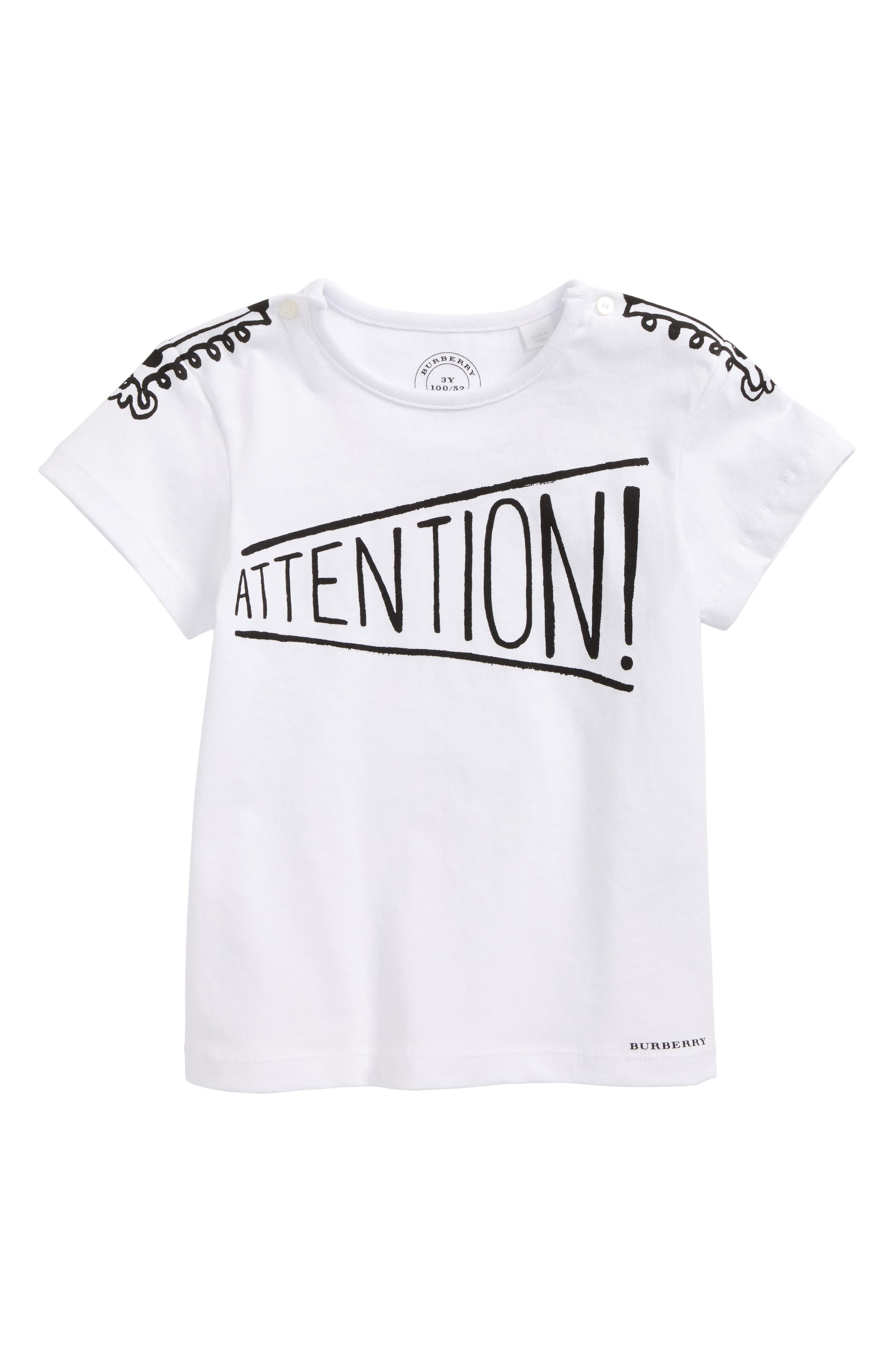 Attention T-Shirt,                         Main,                         color, White