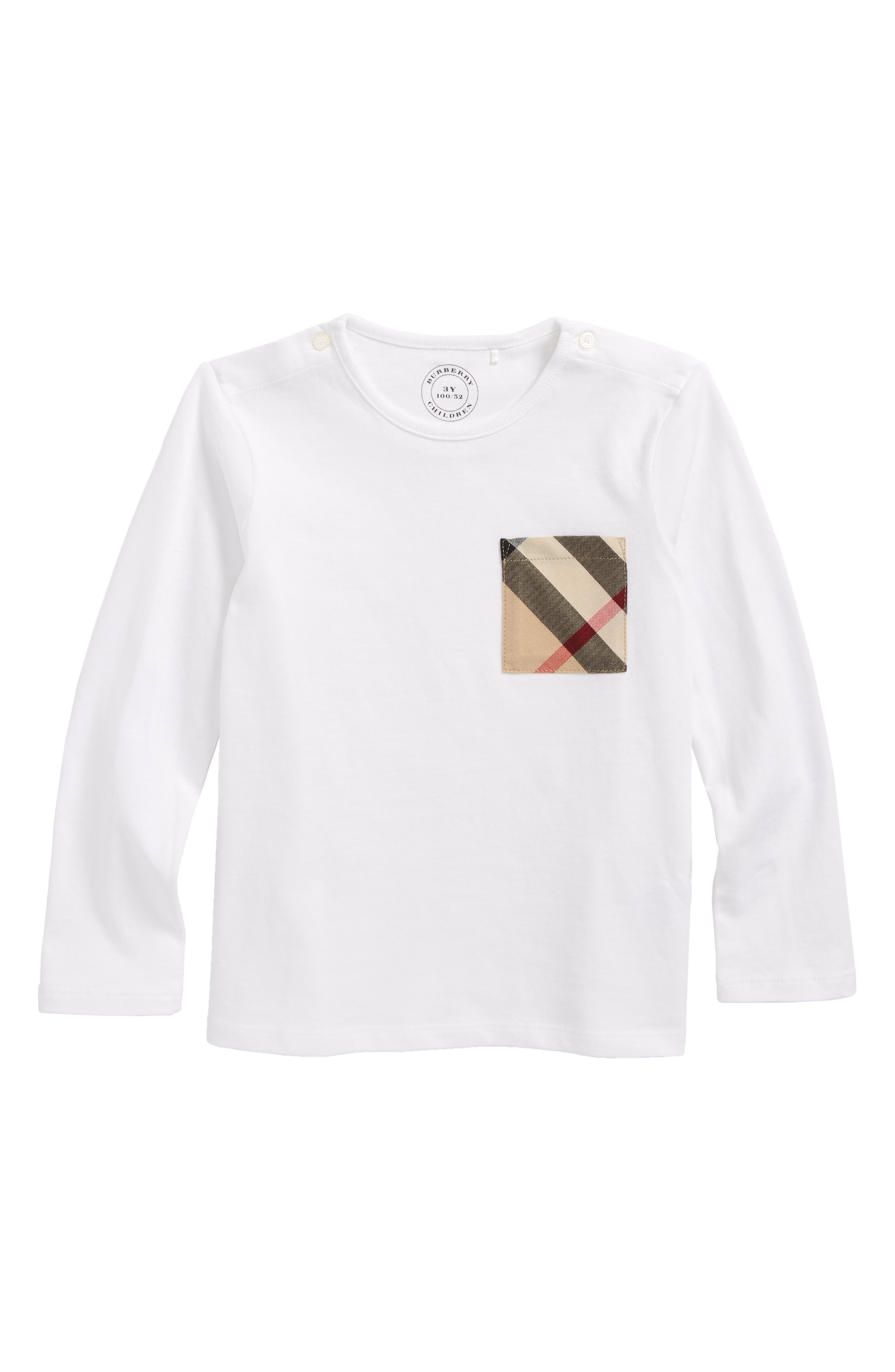 Burberry Check Pocket T-Shirt (Baby Boys)