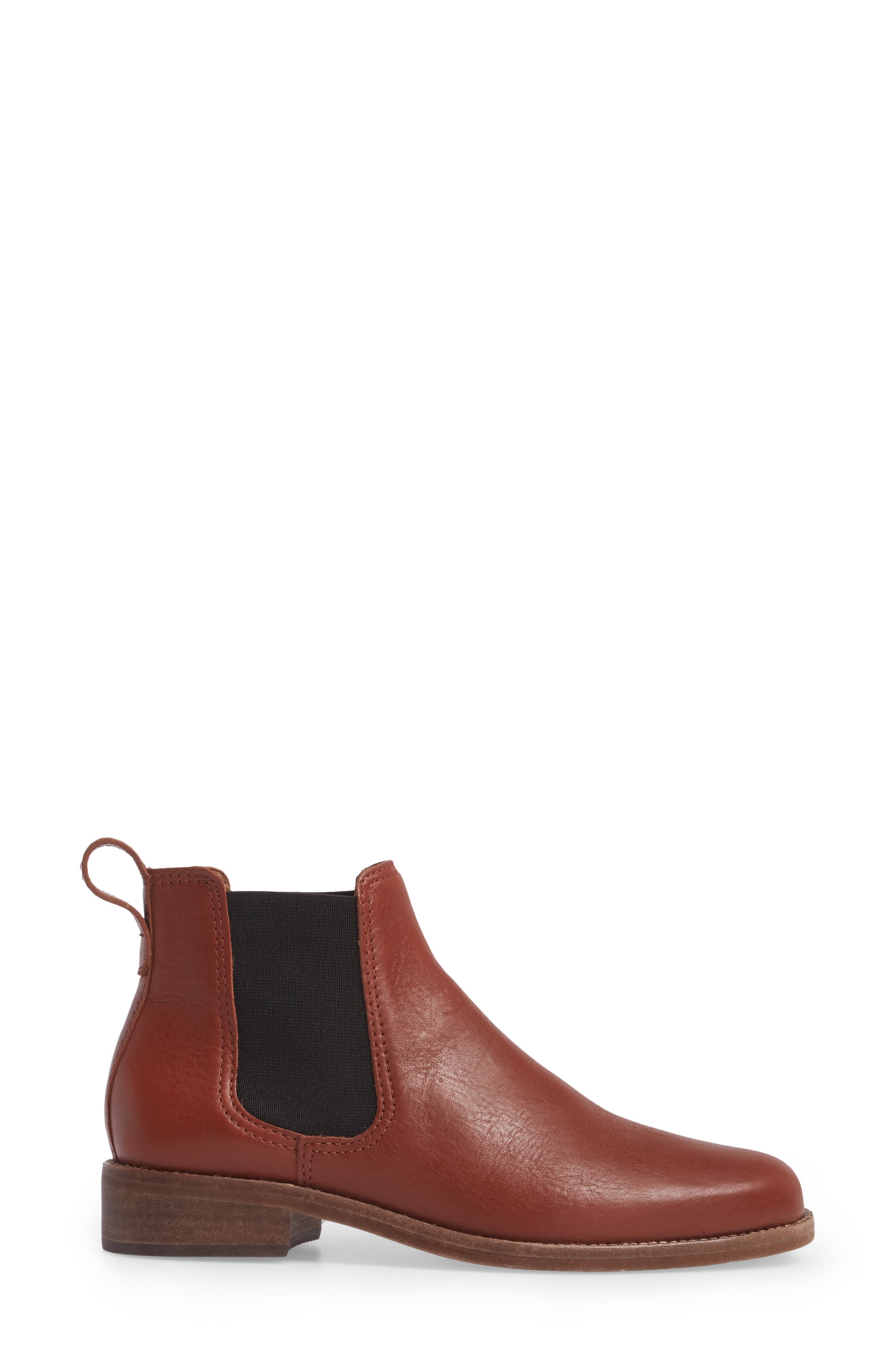 Ainsley Chelsea Boot,                             Alternate thumbnail 3, color,                             Vintage Redwood Leather