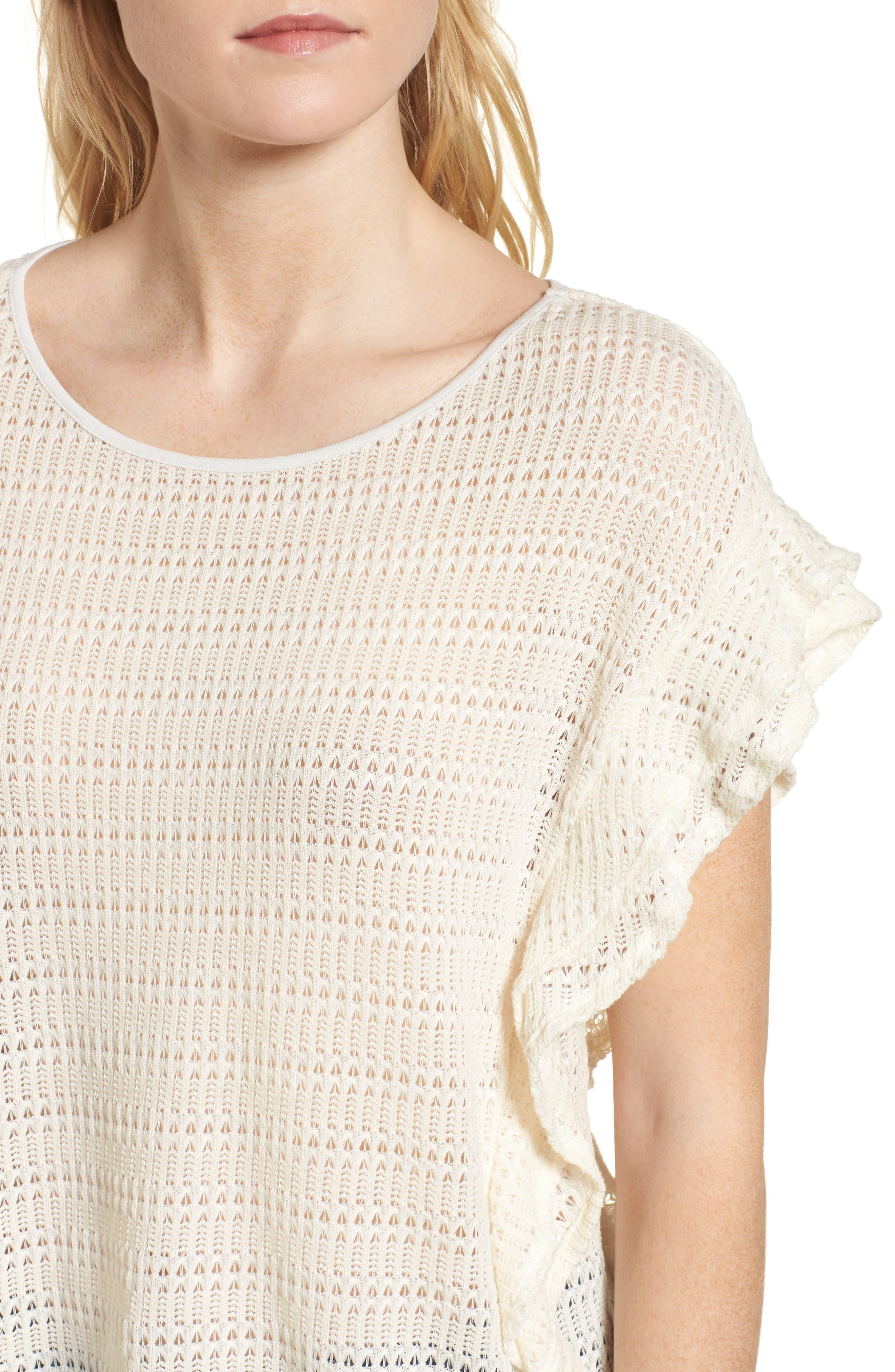 Alternate Image 4  - Ella Moss Crochet Pullover Top