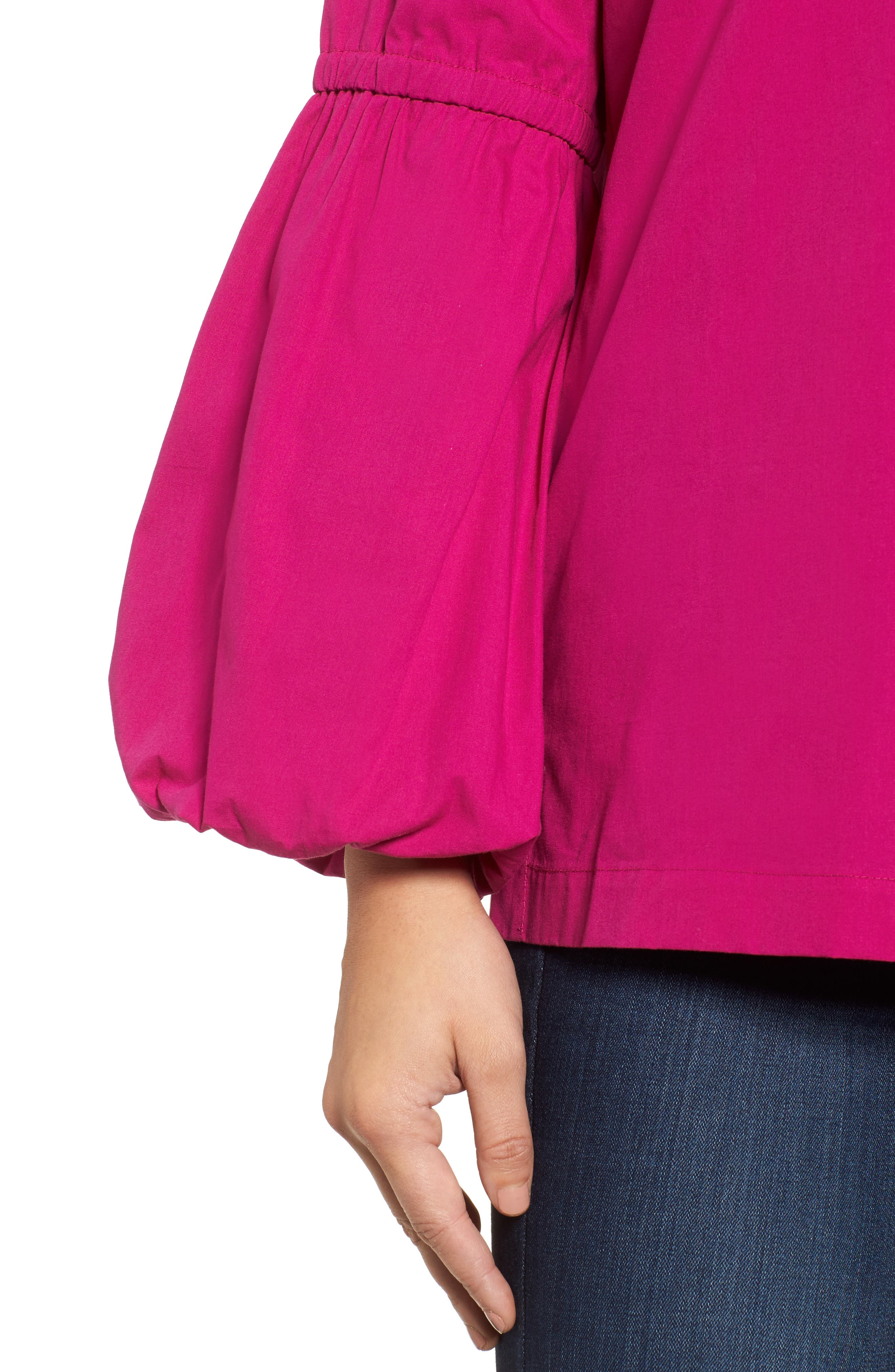 Alternate Image 4  - Halogen® V-Neck Blouson Sleeve Top