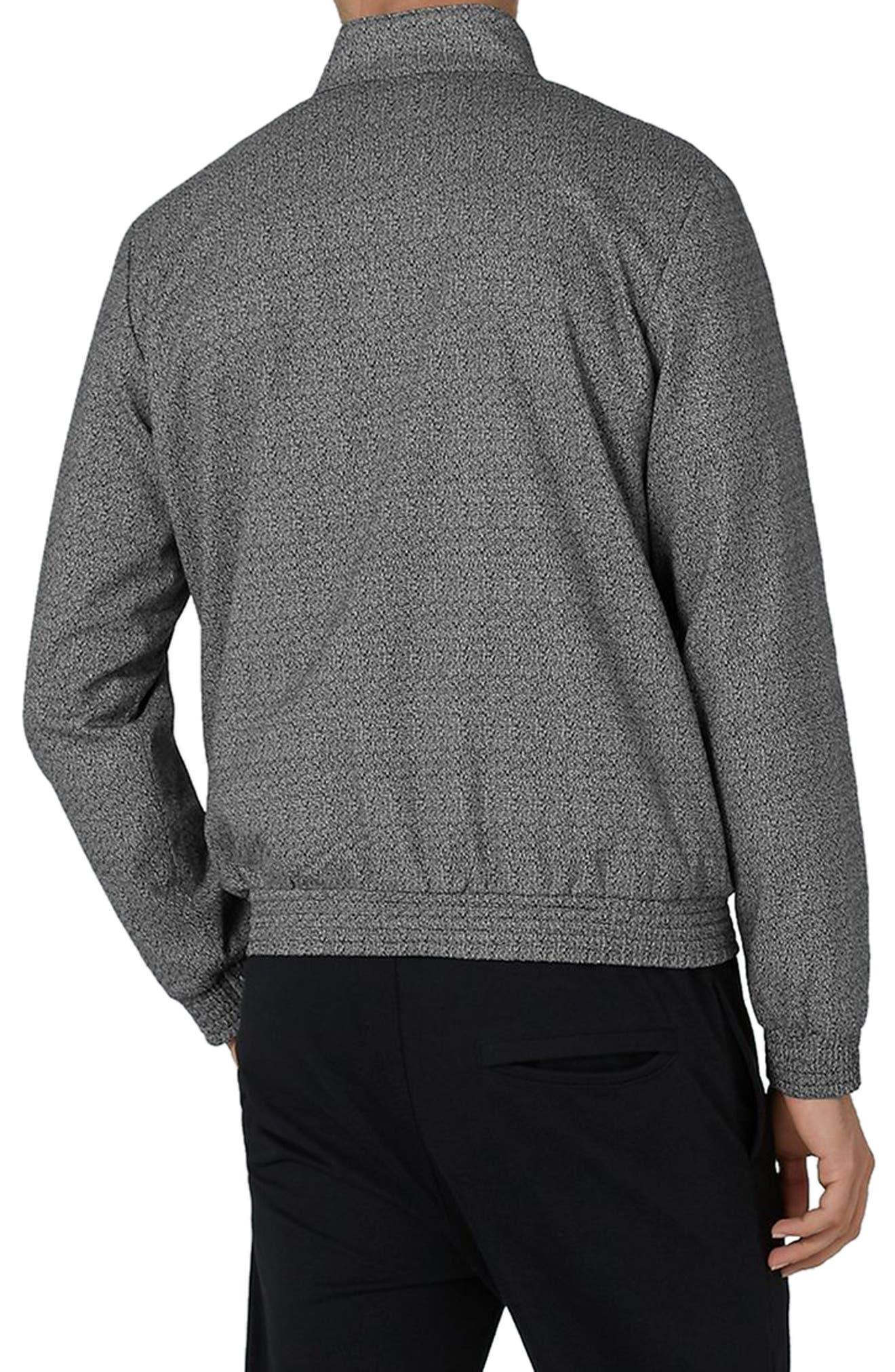 Alternate Image 2  - Topman Textured Harrington Jacket
