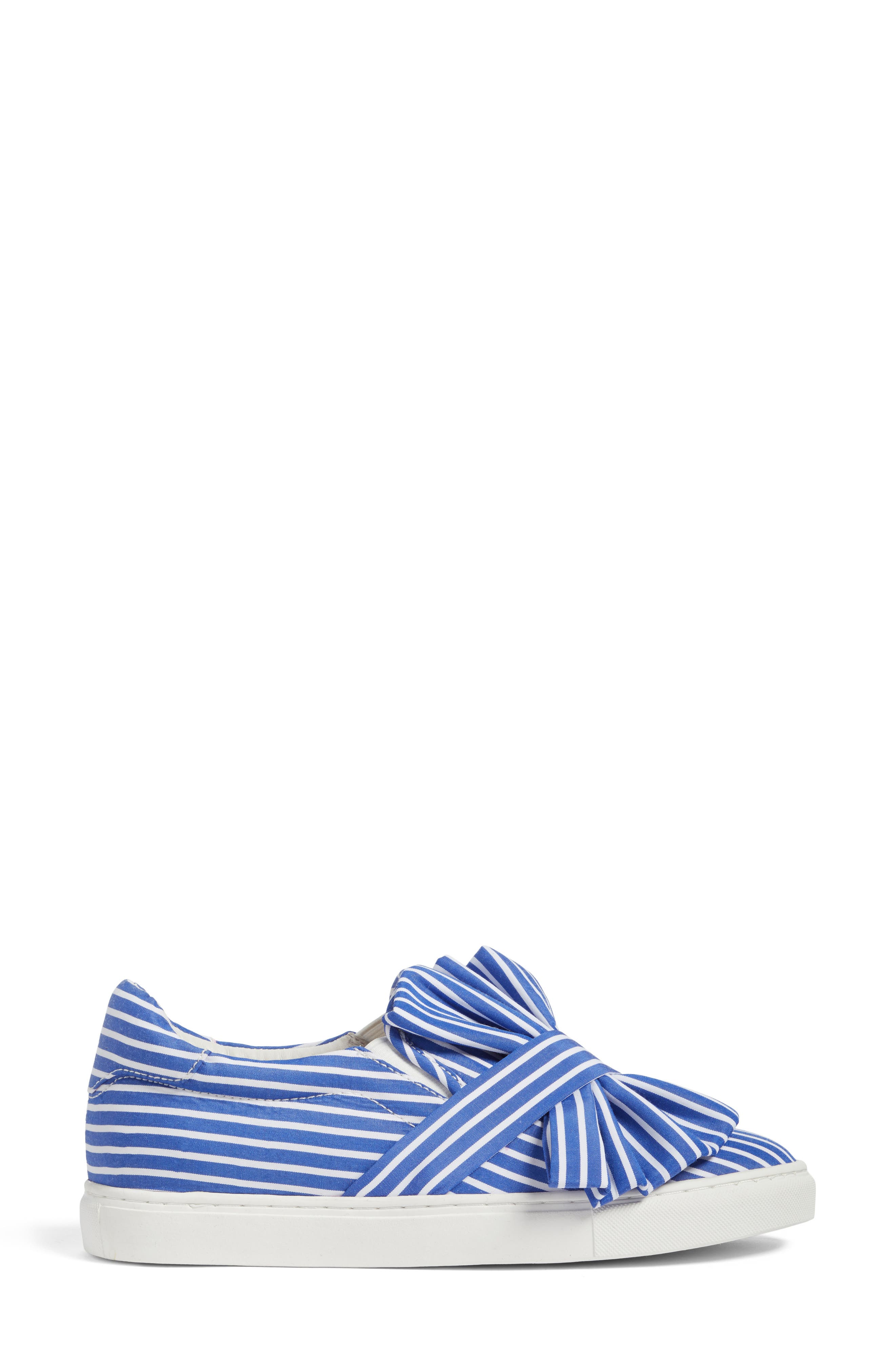 Mika Slip-On Sneaker,                             Alternate thumbnail 4, color,                             Blue Shirting Fabric