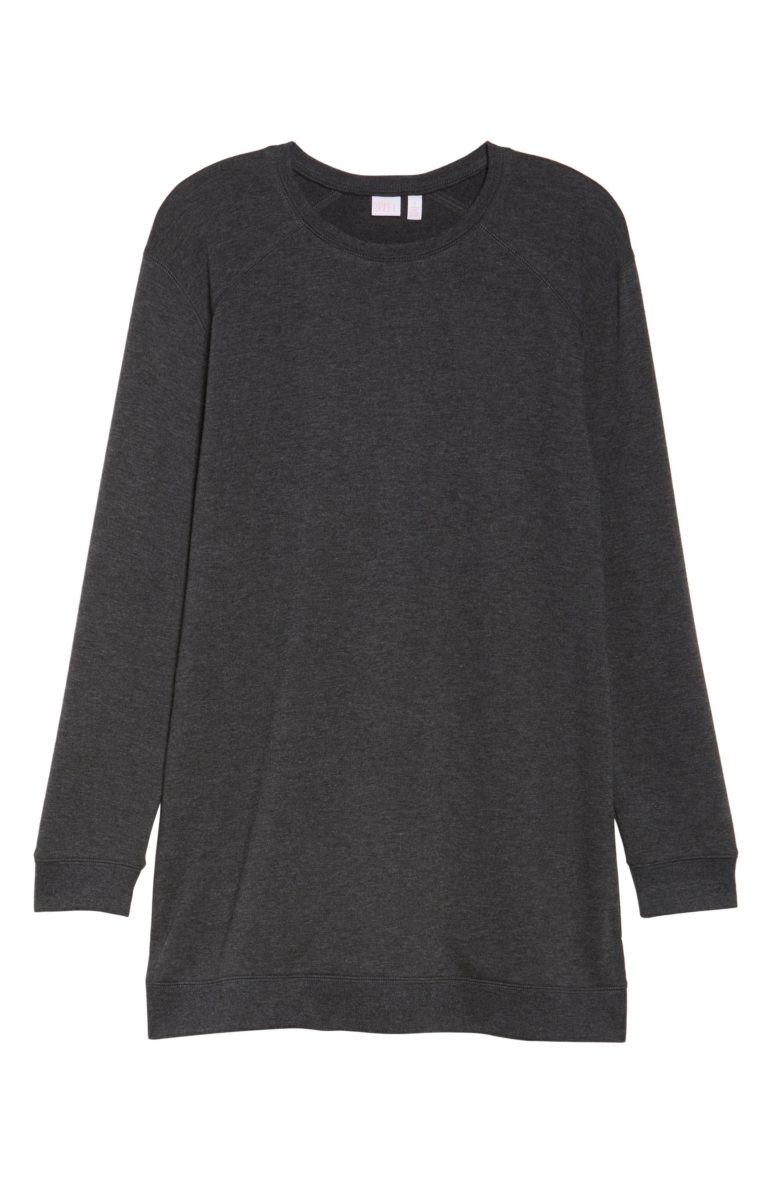 Sleepy Tunic Shirt,                             Alternate thumbnail 4, color,                             Grey Wolf Heather