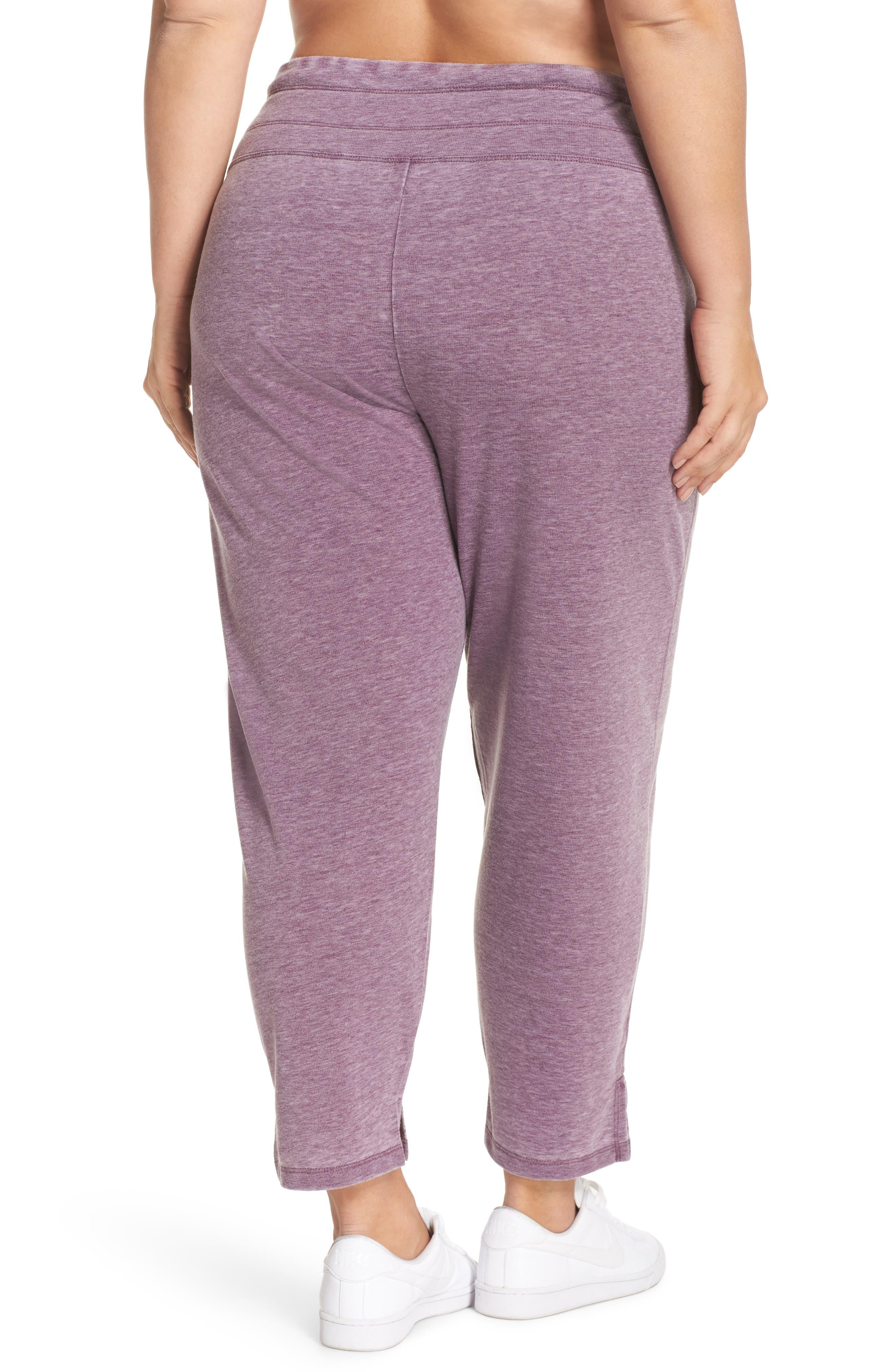 Kayle Crop Sweatpants,                             Alternate thumbnail 2, color,                             Aubergine Glow