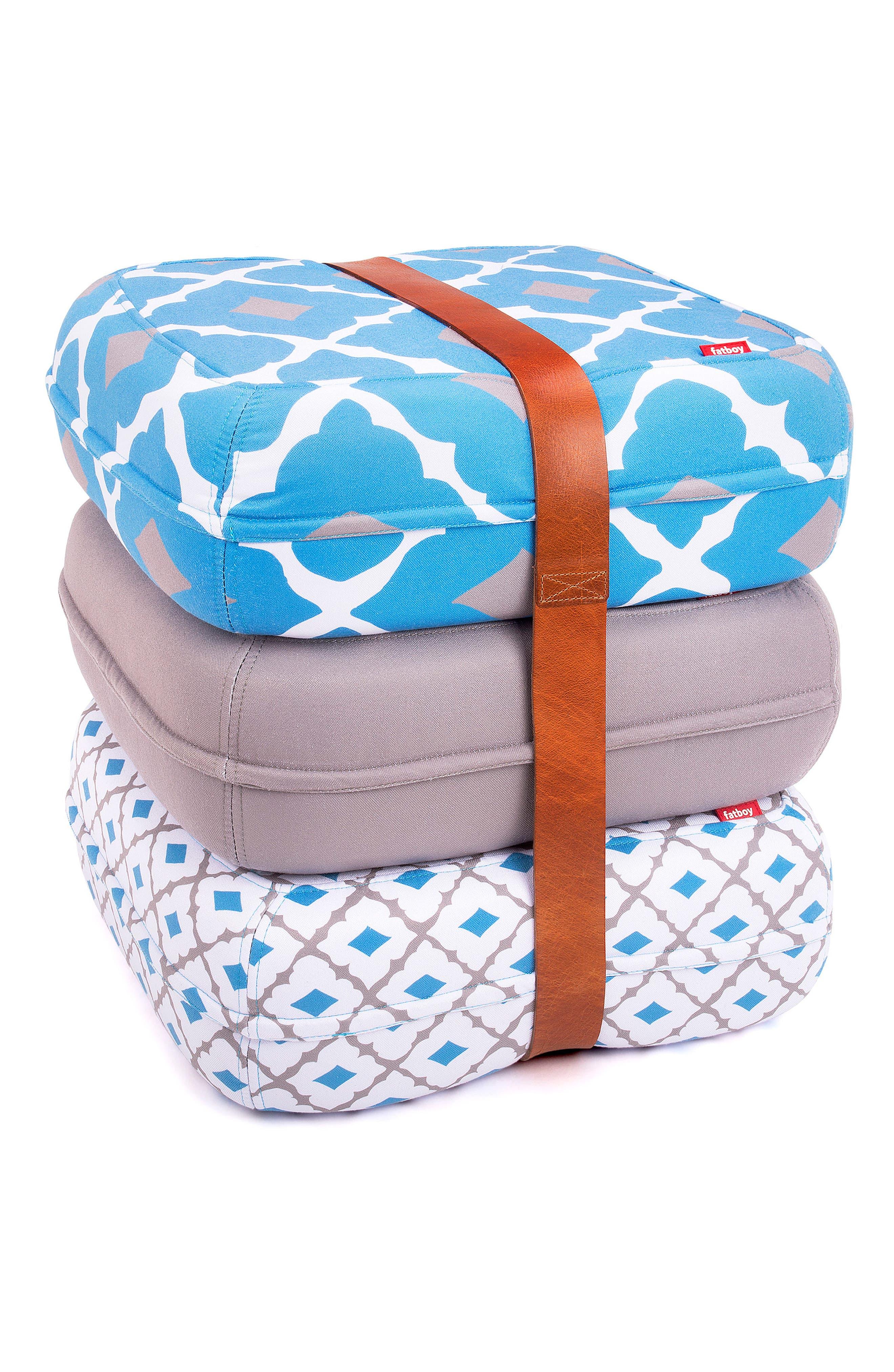 Baboesjka Set of 3 Pillows,                         Main,                         color, Persian Blue
