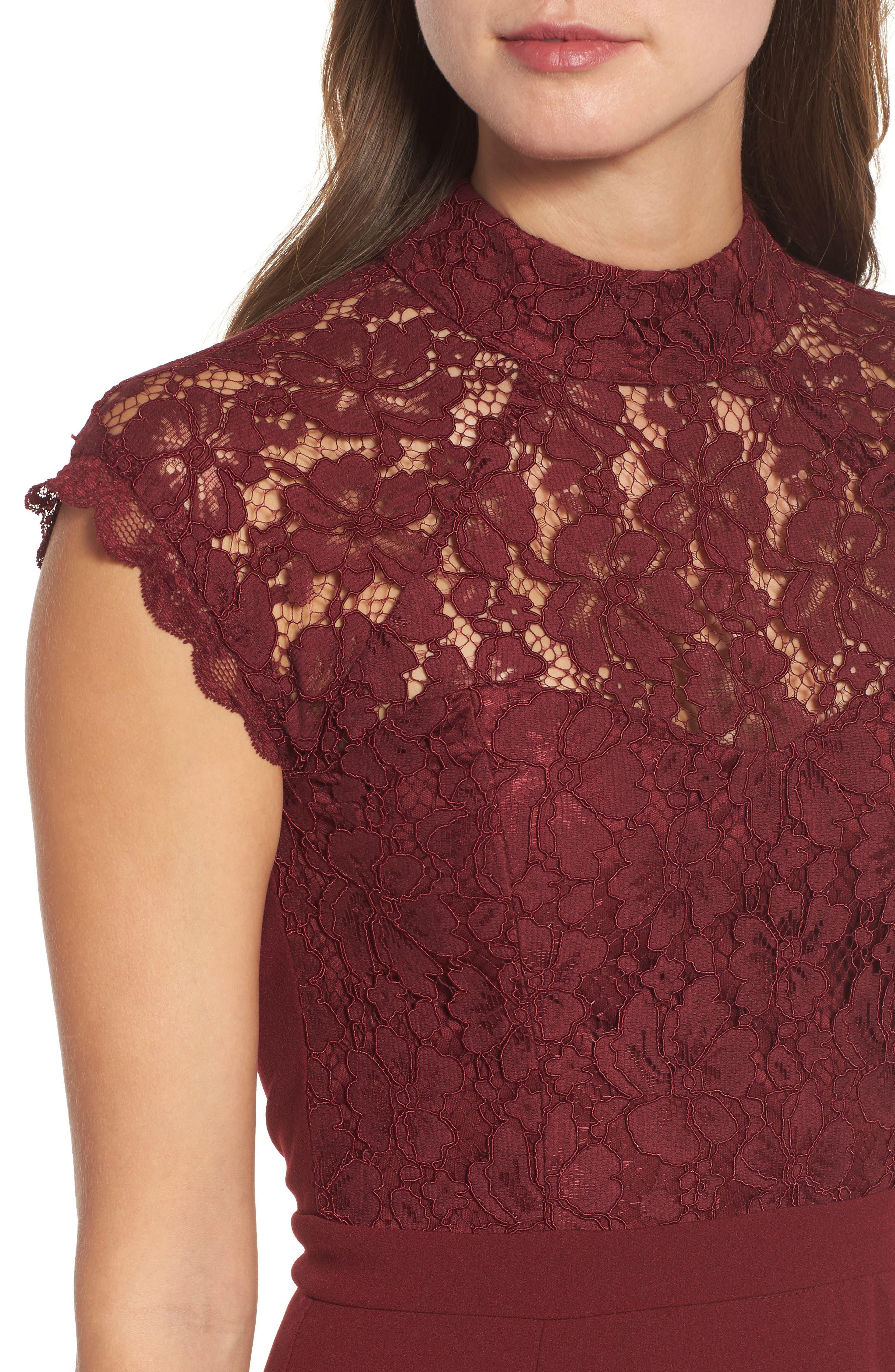 Alternate Image 5  - Lulus Lace Bodice Mermaid Gown