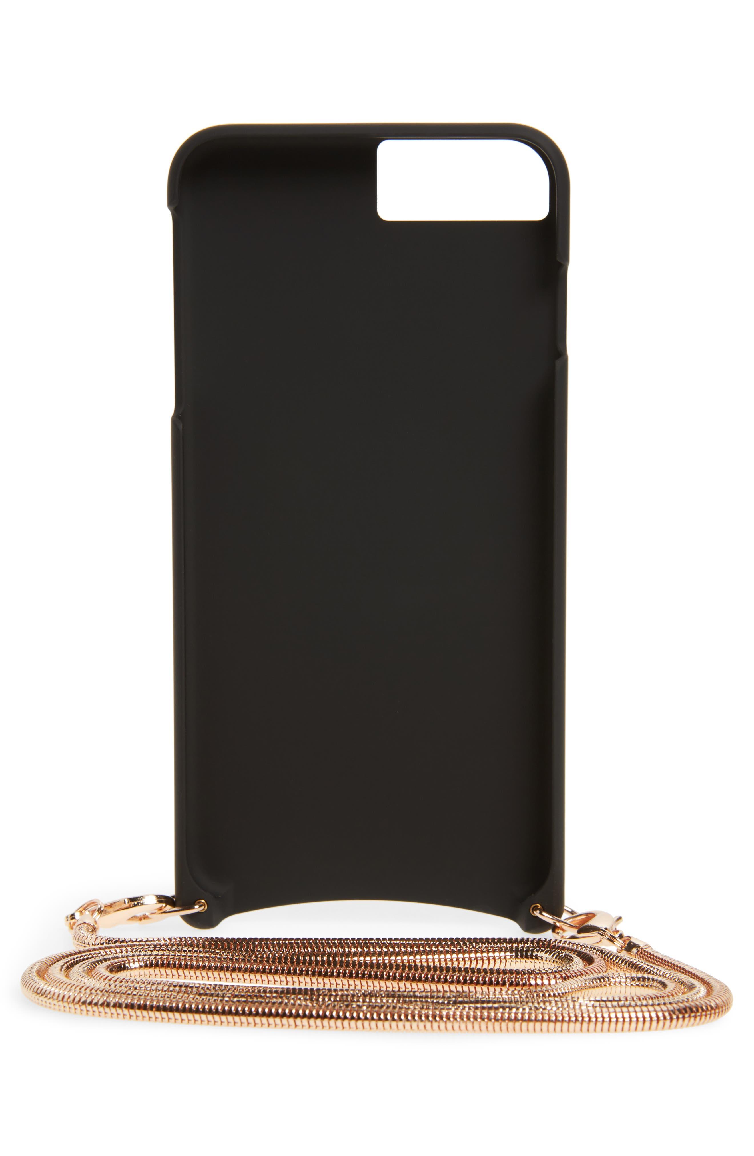 Belinda iPhone 6/6s/7/8 & 6/6s/7/8 Plus Crossbody Case,                             Alternate thumbnail 2, color,                             Black/ Rose Gold