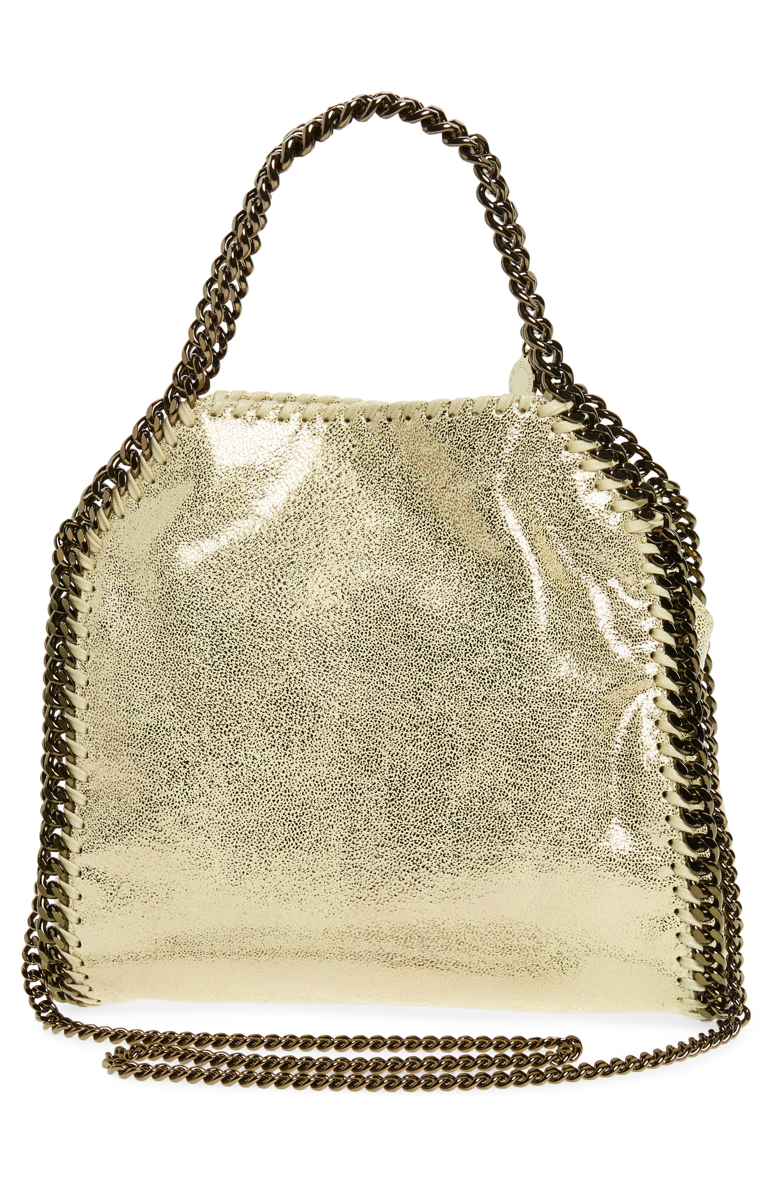 Alternate Image 3  - Stella McCartney Mini Falabella Shaggy Deer Metallic Faux Leather Tote