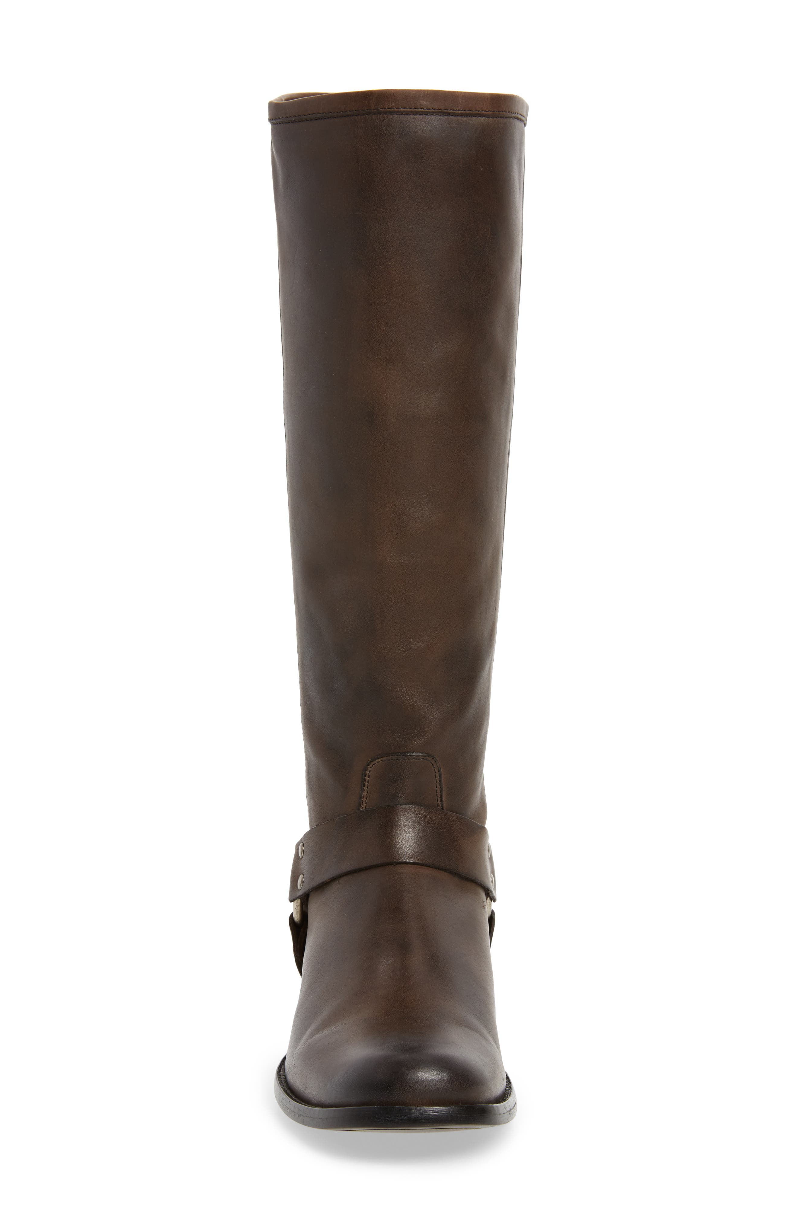Phillip Harness Tall Boot,                             Alternate thumbnail 4, color,                             Smoke Leather