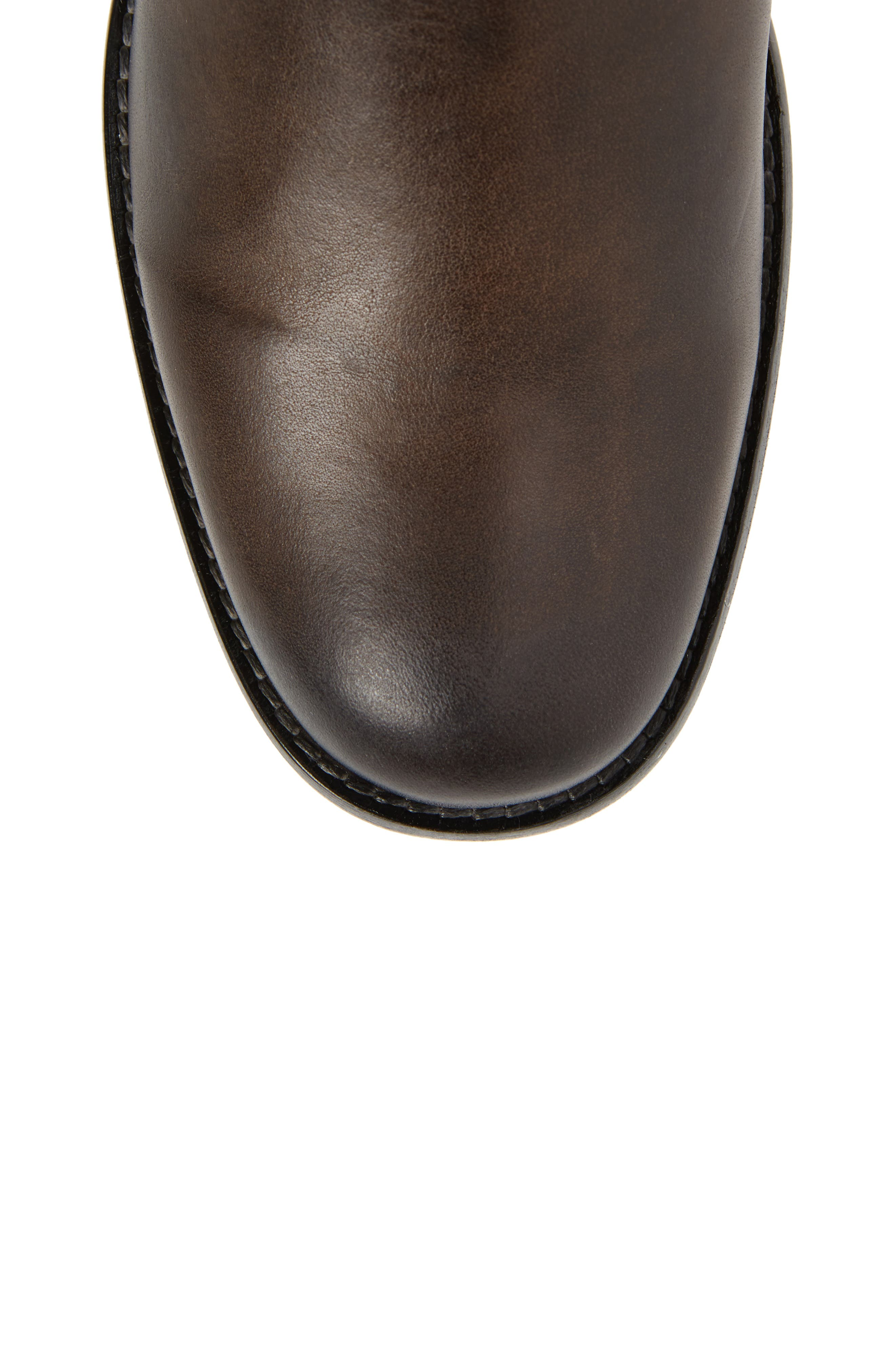 Phillip Harness Tall Boot,                             Alternate thumbnail 5, color,                             Smoke Leather