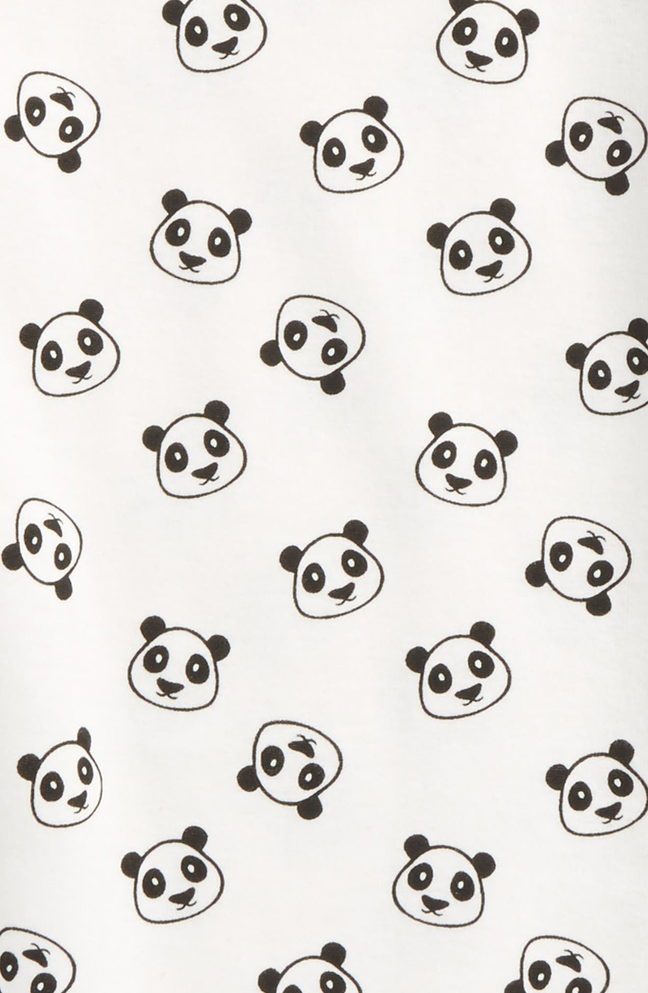 Fitted Two-Piece Pajamas,                             Alternate thumbnail 2, color,                             Ivory Egret Pandas