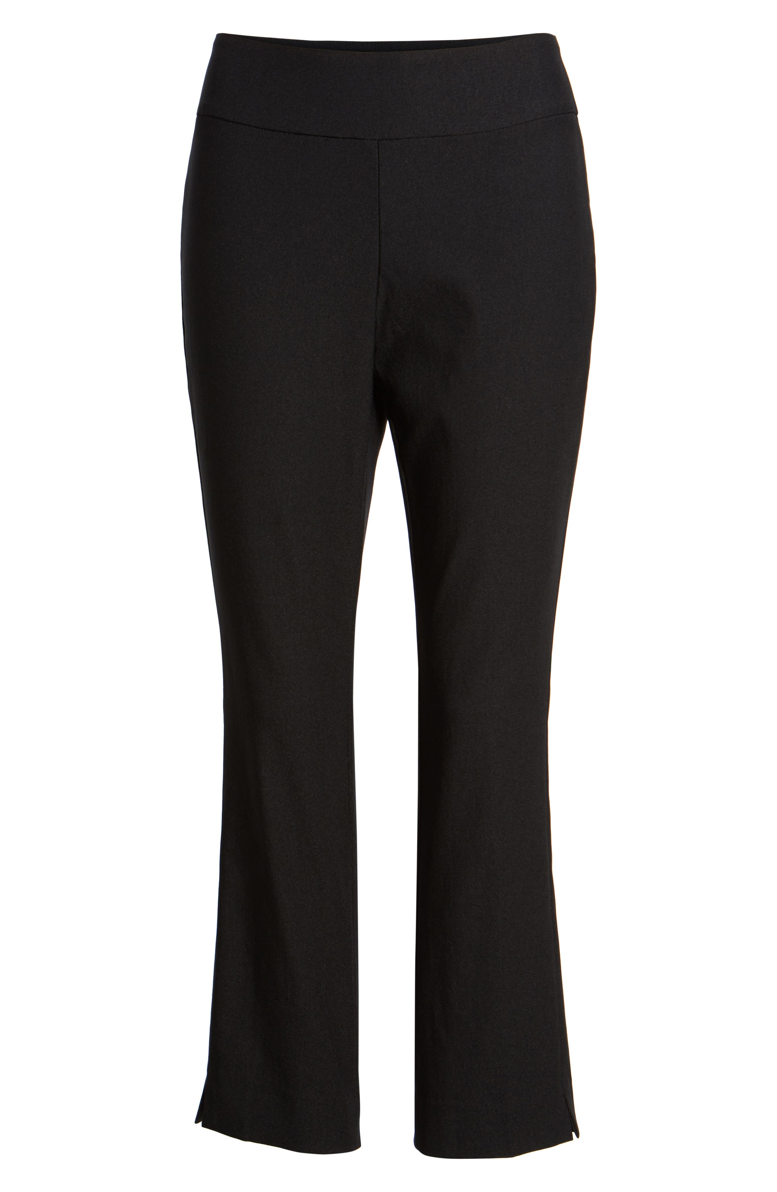 Wonder Stretch Crop Pants,                             Alternate thumbnail 6, color,                             Black Onyx