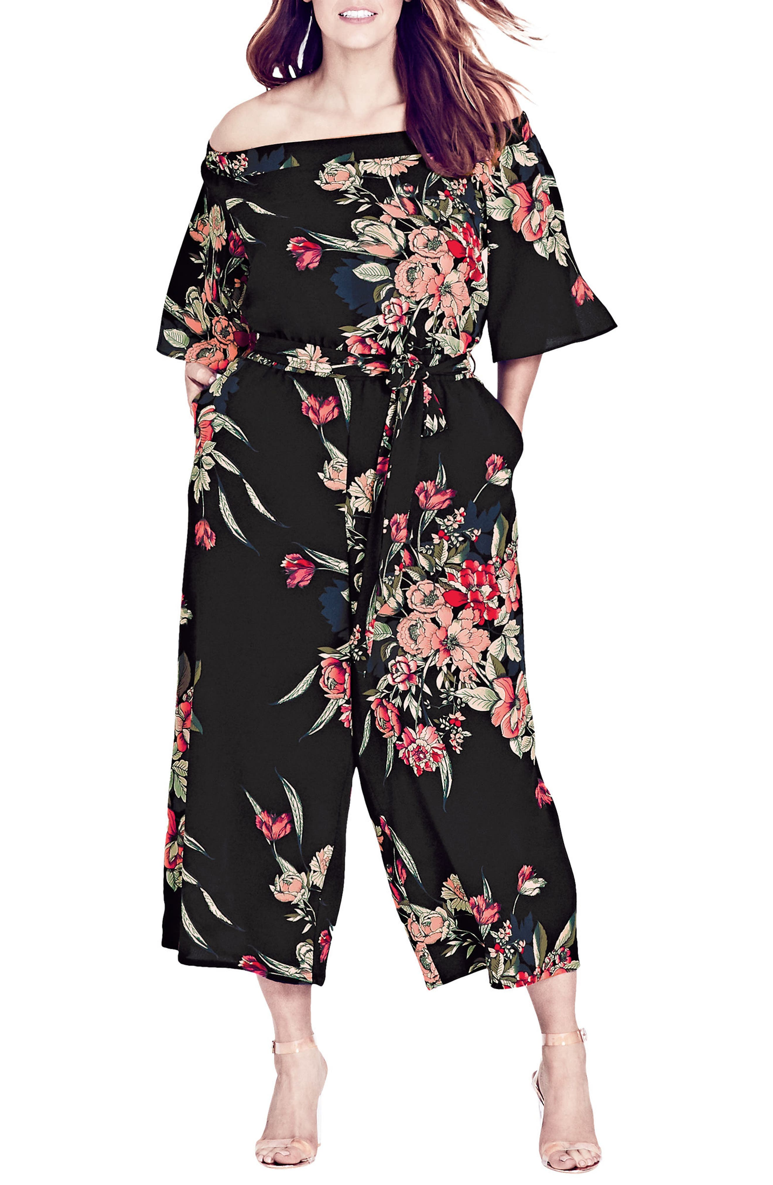 Misty Floral Jumpsuit,                             Main thumbnail 1, color,                             Misty Floral