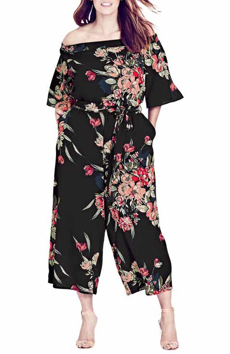 88b14e92b201 City Chic Misty Floral Jumpsuit (Plus Size)