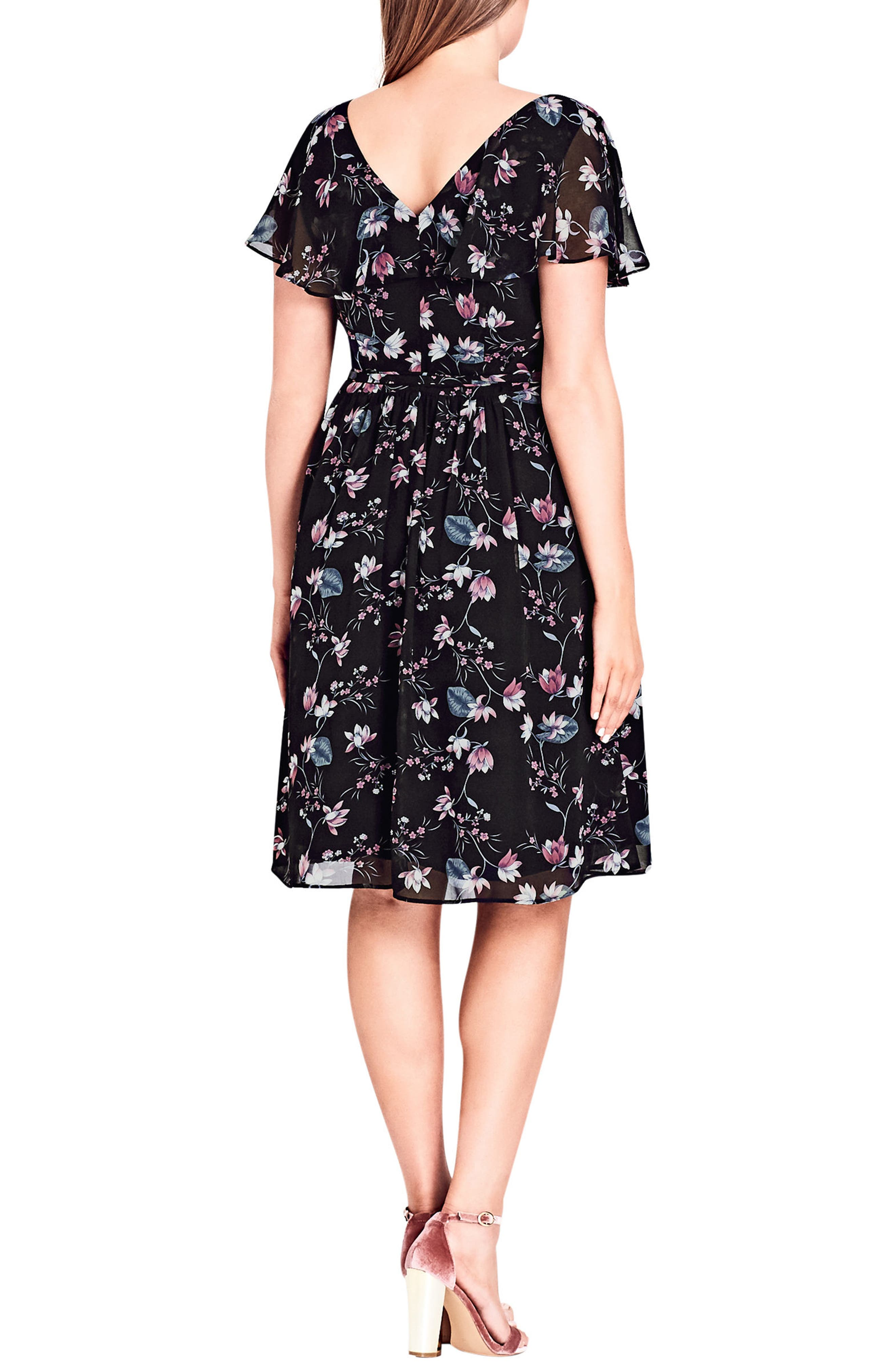 Alternate Image 2  - City Chic Sweet Jasmine Fit & Flare Dress (Plus Size)