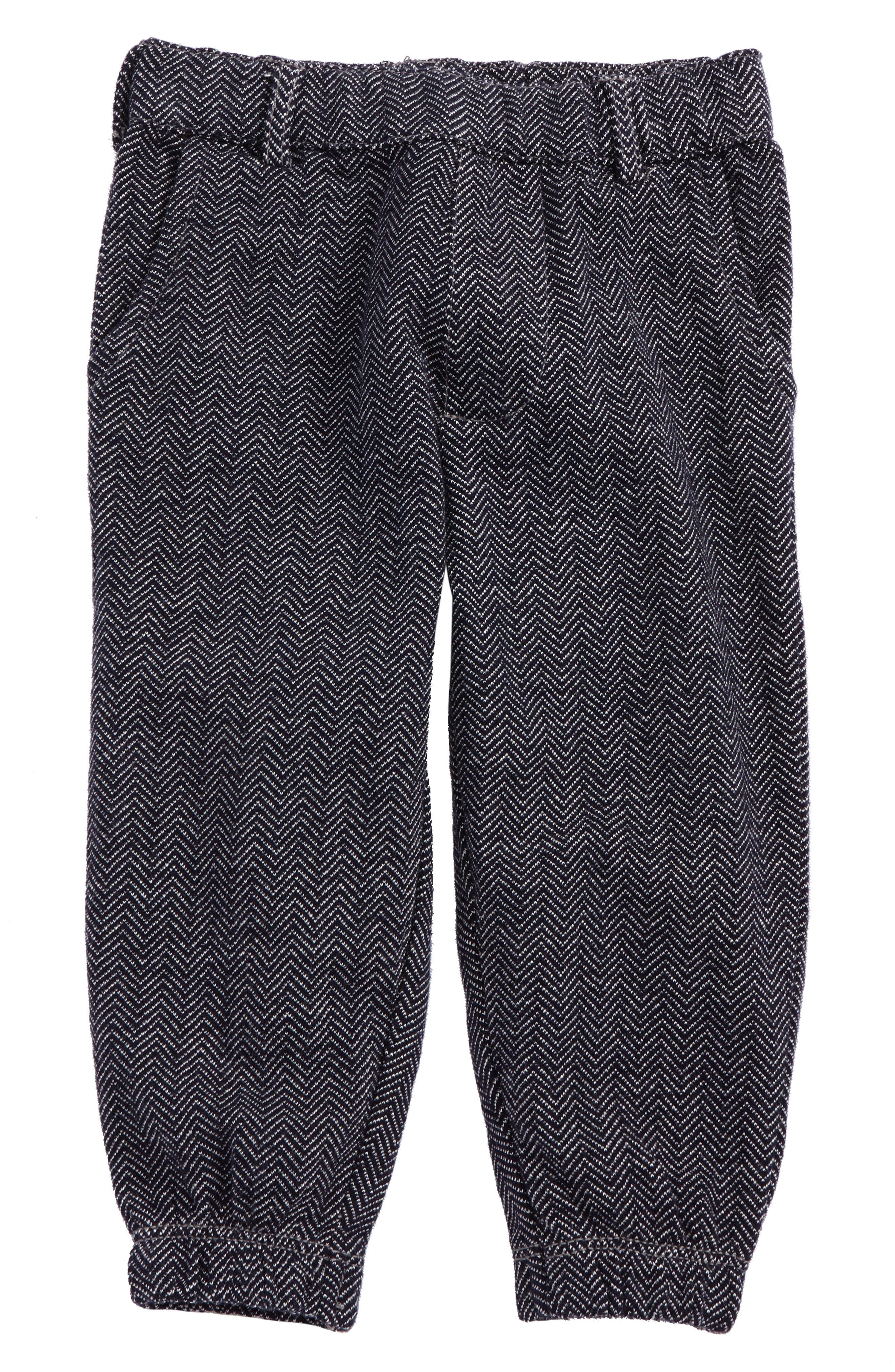 Peek Herringbone Jogger Pants (Baby Boys)