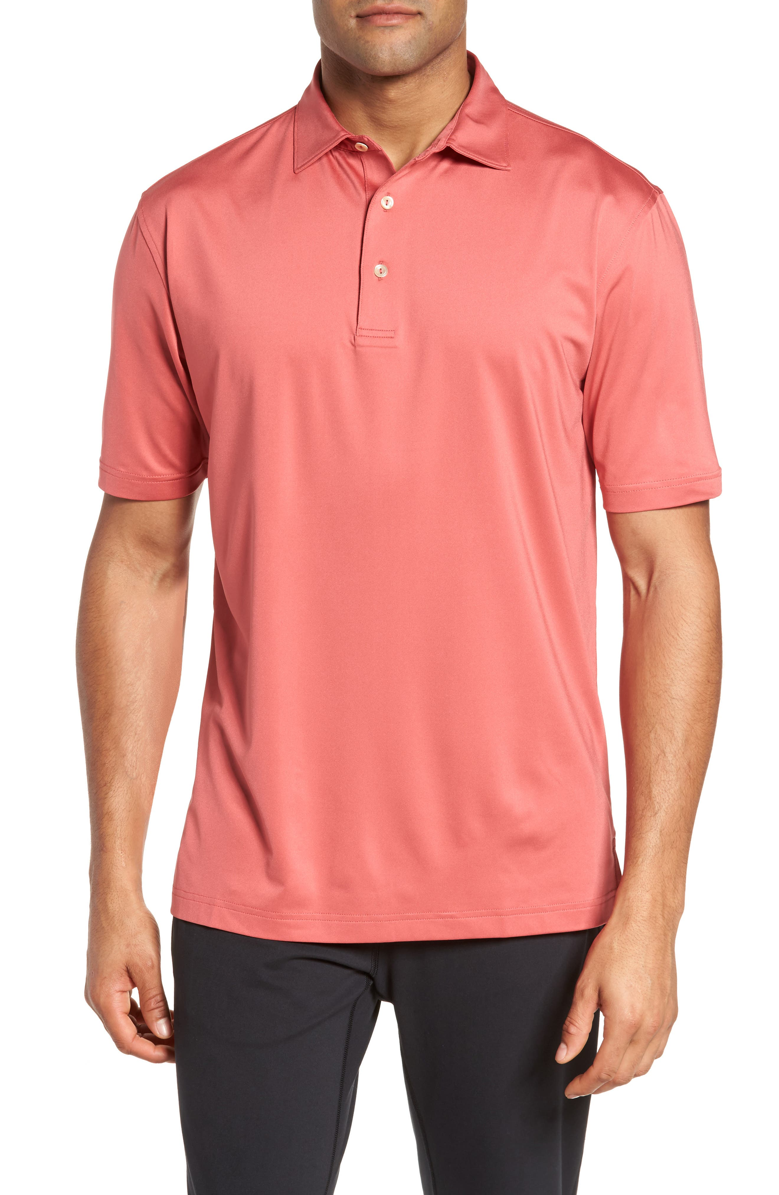 Sean Stretch Jersey Polo,                         Main,                         color, Cape Red