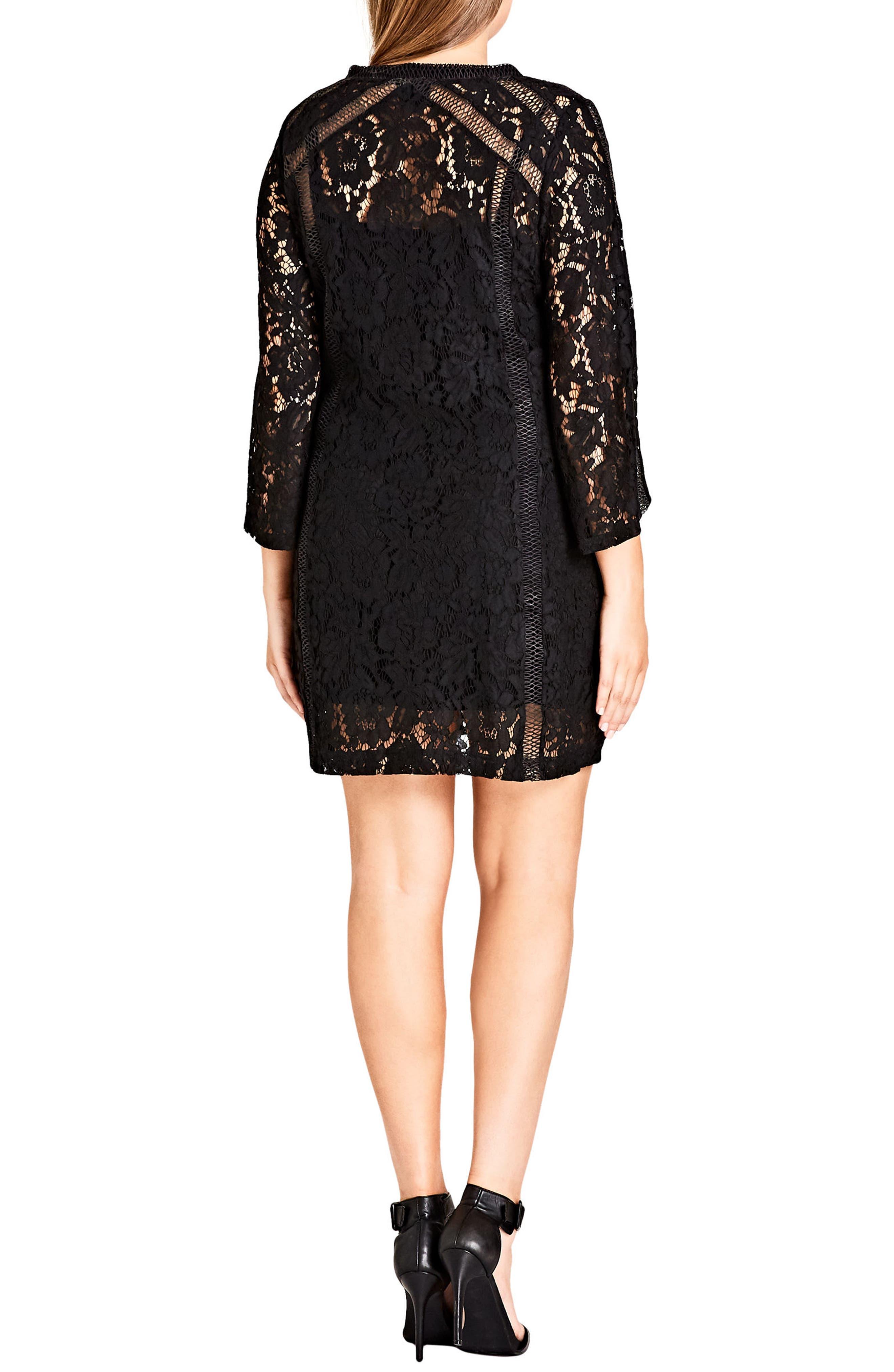 Alternate Image 2  - City Chic Innocent Lace Shift Dress (Plus Size)