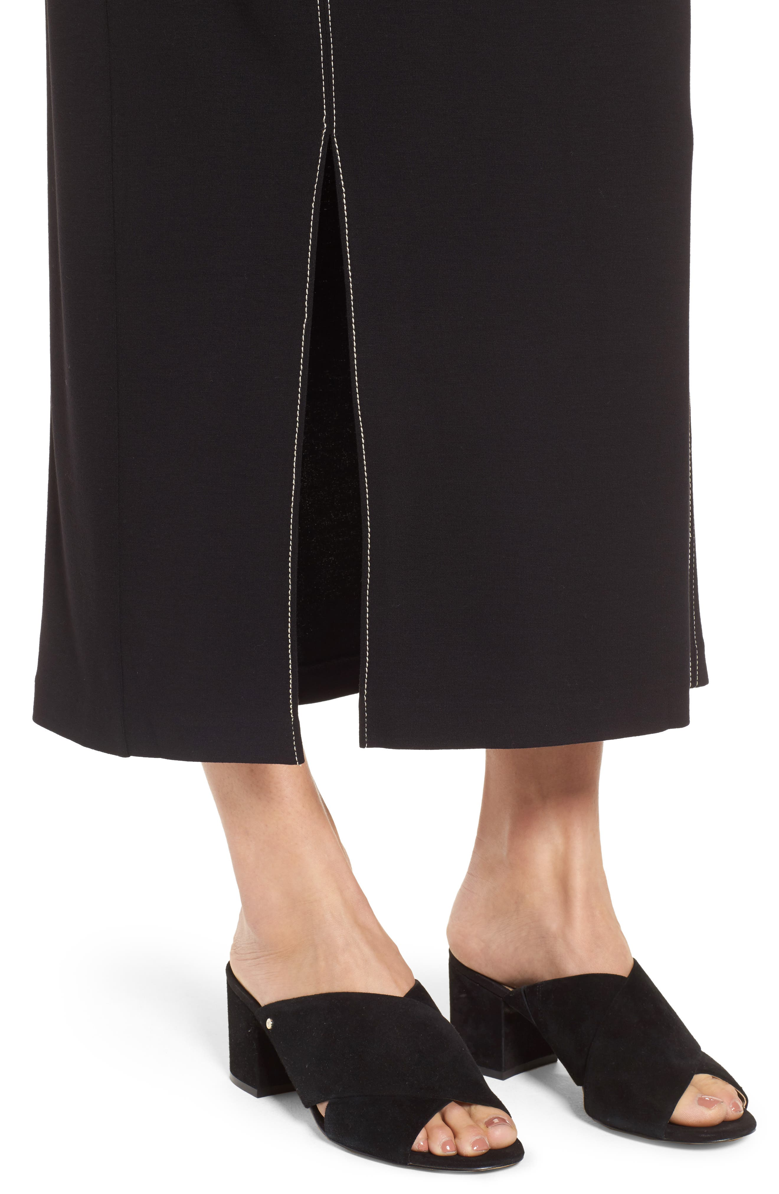 Break Out Maxi Skirt,                             Alternate thumbnail 4, color,                             Black Onyx