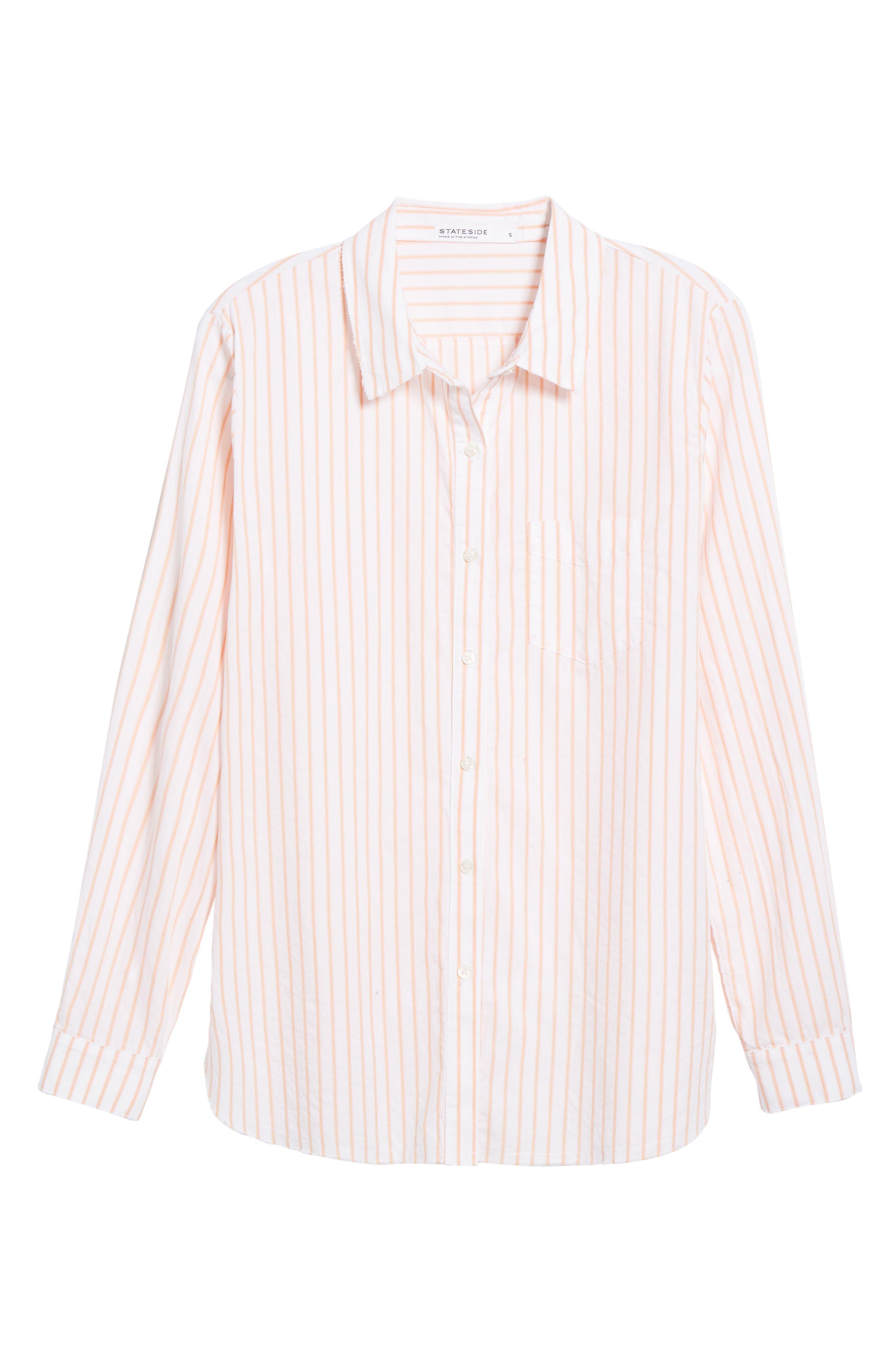 Stripe Oxford Shirt,                             Main thumbnail 1, color,                             Sorbet