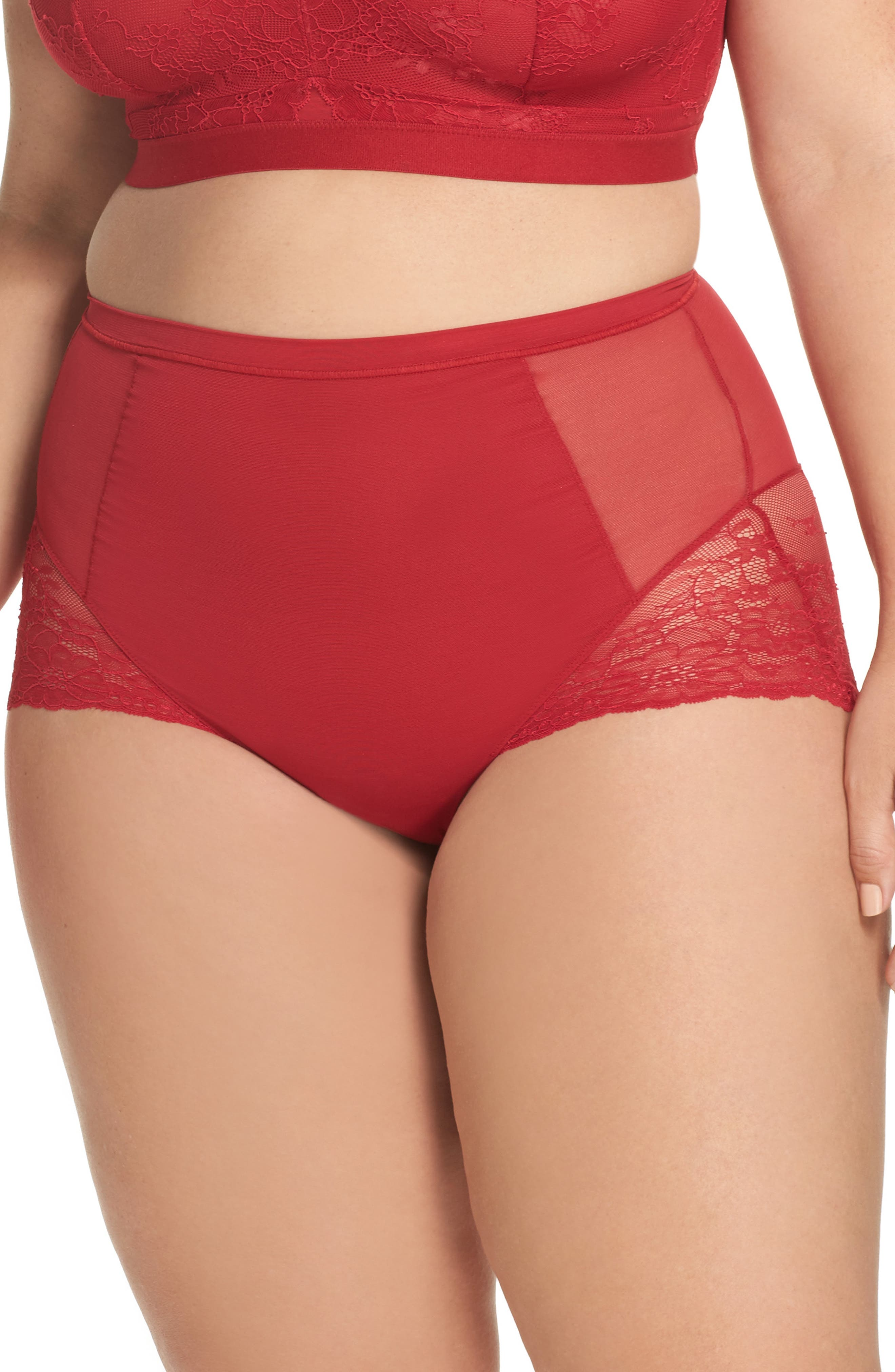 Alternate Image 1 Selected - SPANX® Spotlight On Lace Briefs (Plus Size)