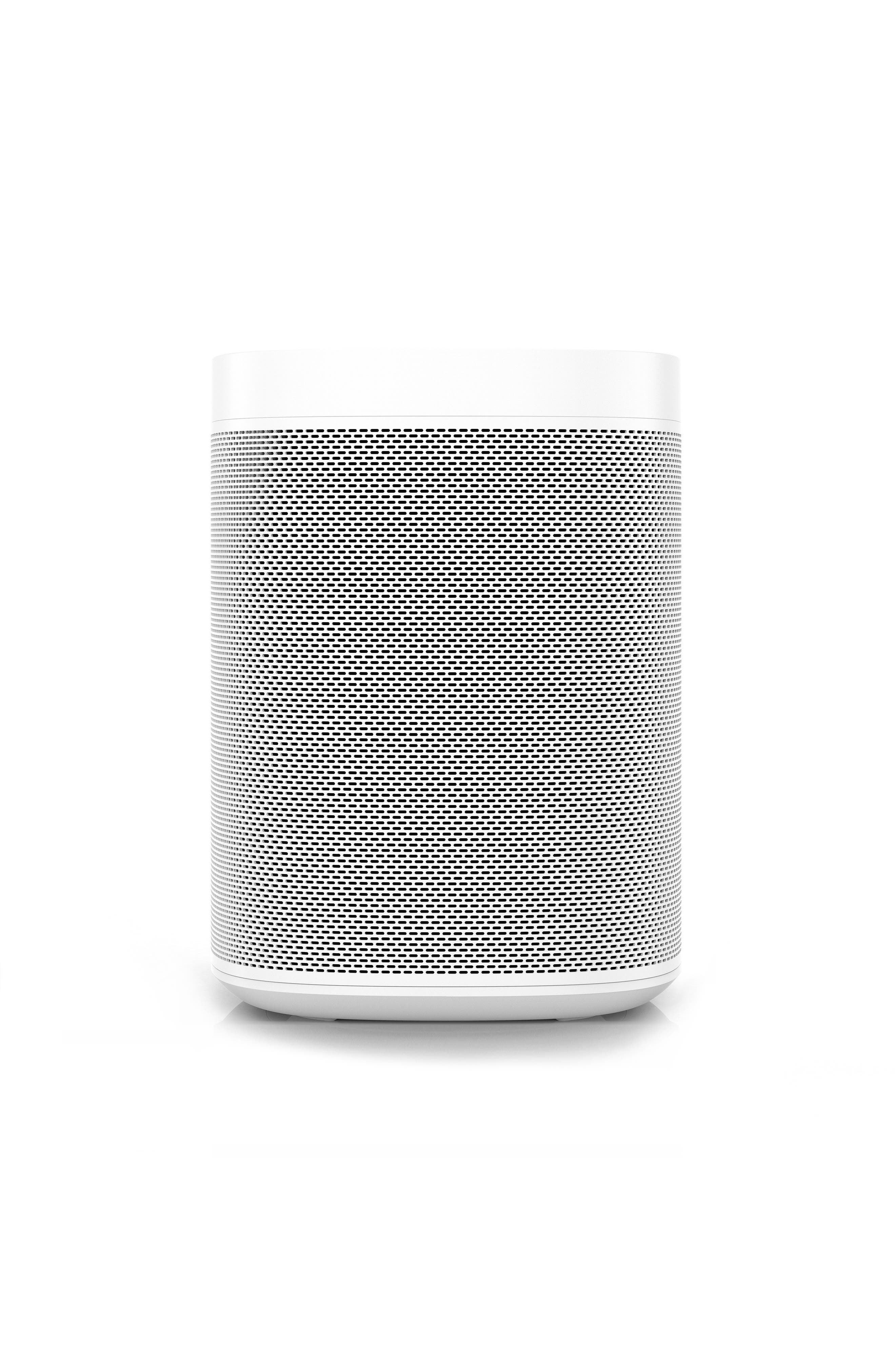 One Voice Controlled Smart Speaker,                             Main thumbnail 1, color,                             White