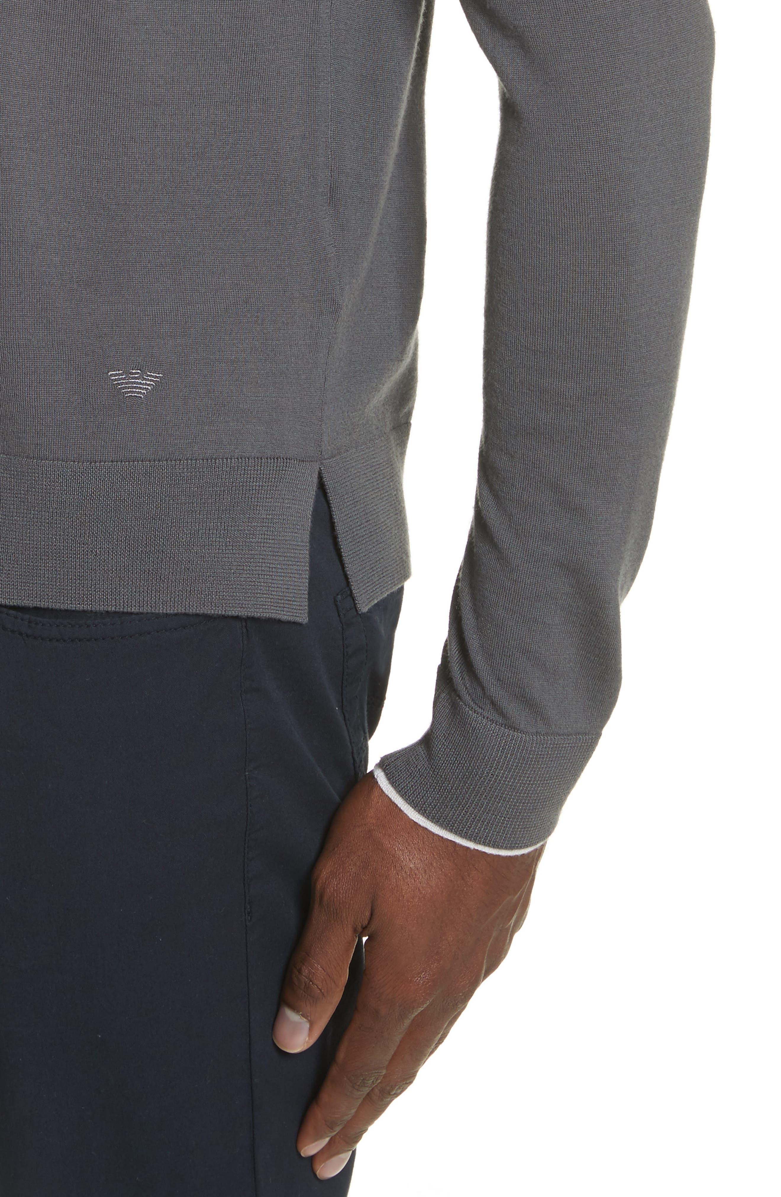 Alternate Image 4  - Emporio Armani Slim Fit Wool Sweater
