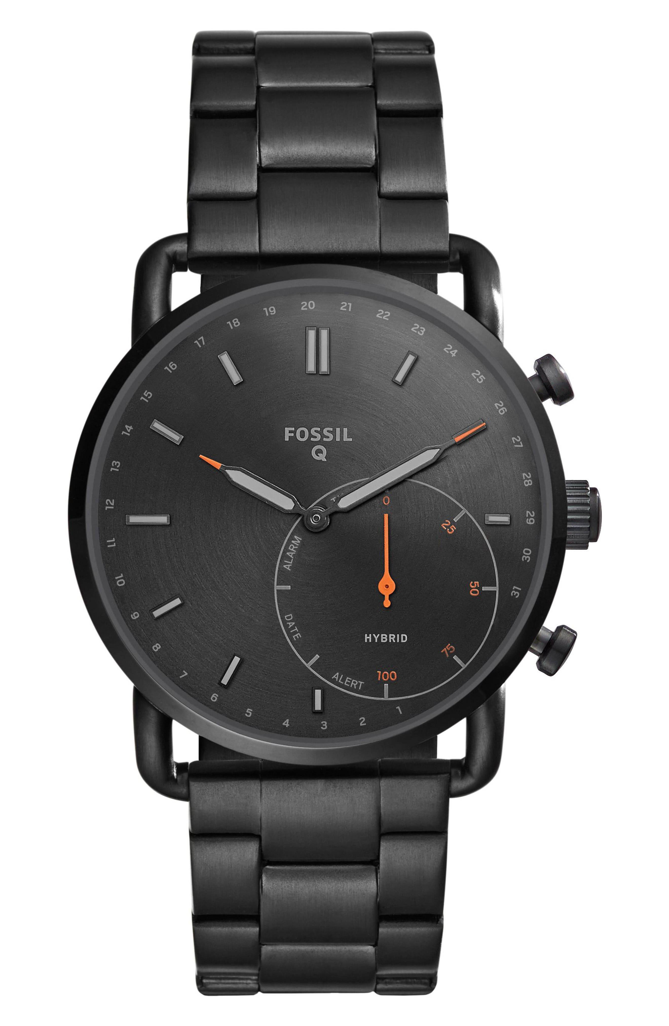 Fossil Q Commuter Bracelet Hybrid Smart Watch, 42mm