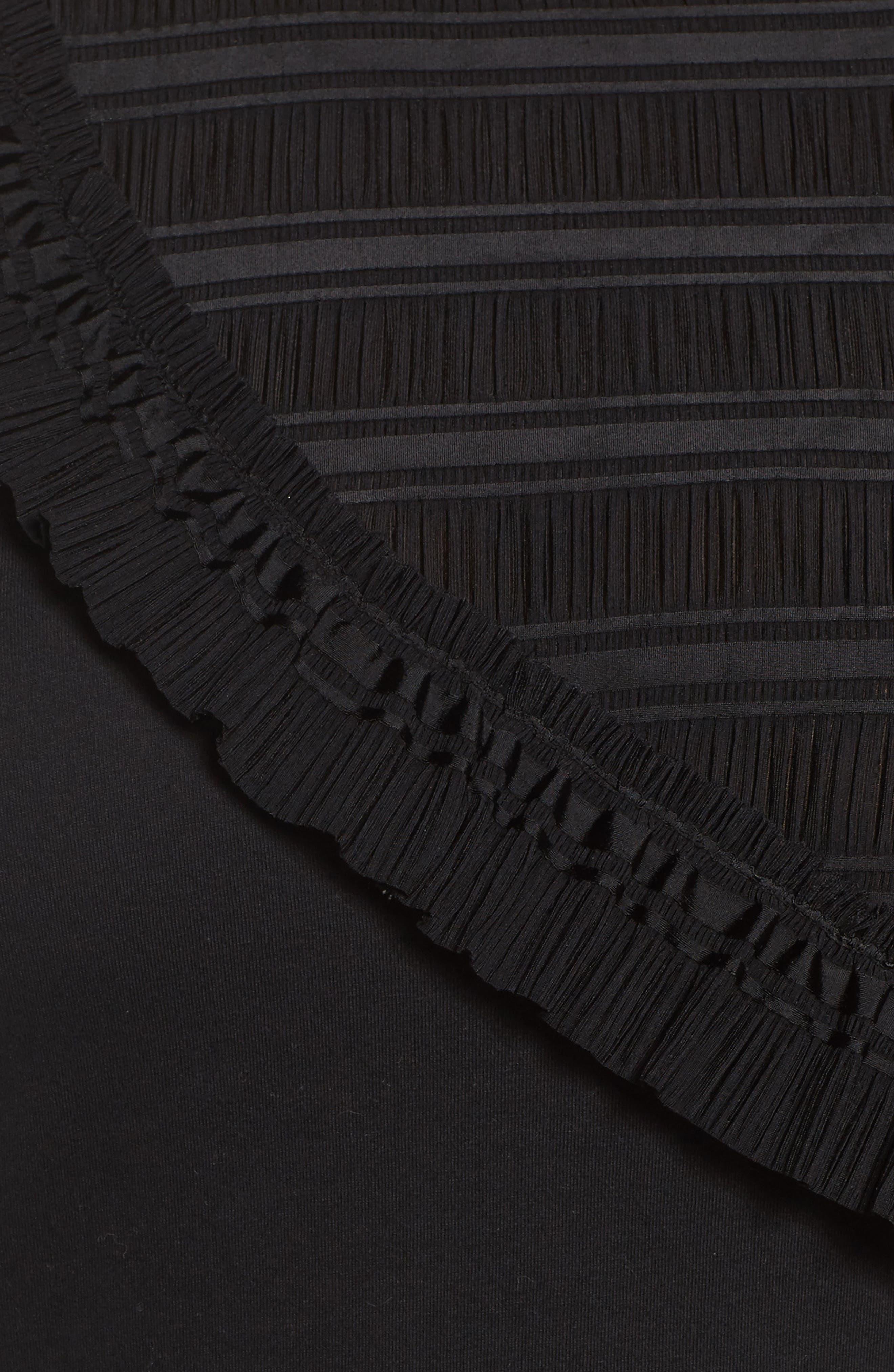 Alternate Image 5  - LOST INK Tulle Shoulder Tee (Plus Size)