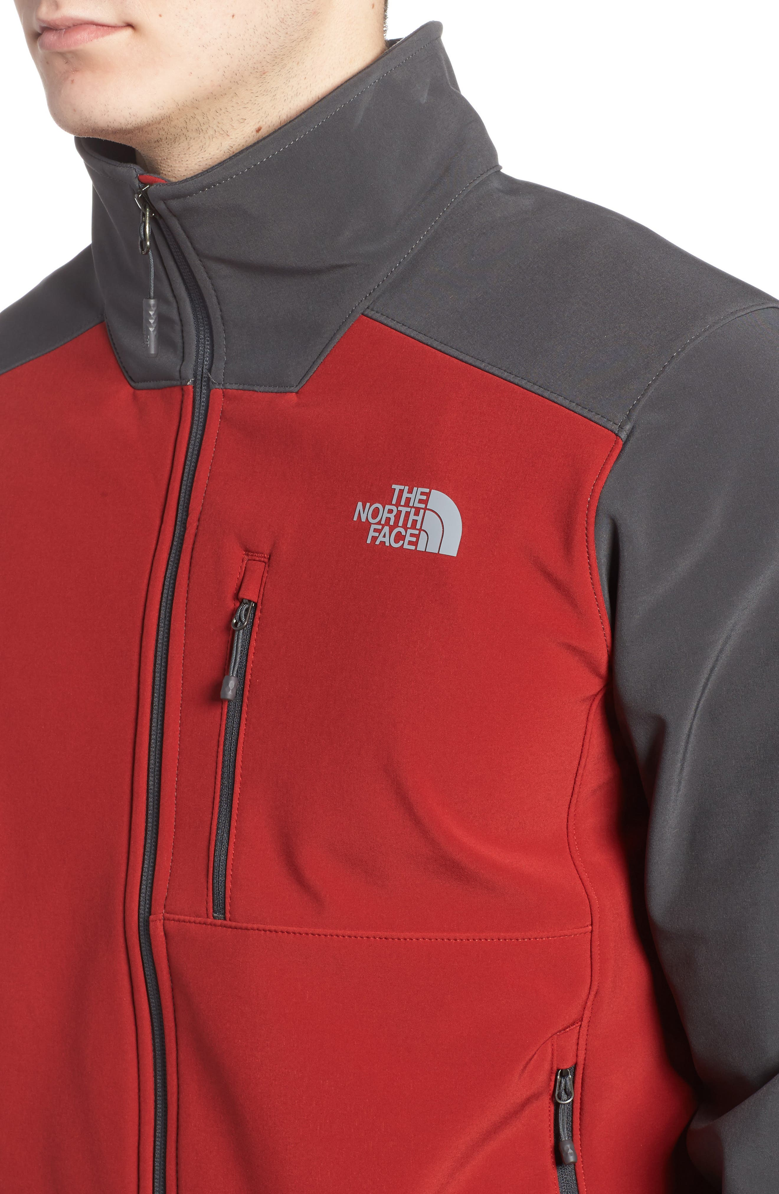 'Apex Bionic 2' Windproof & Water Resistant Soft Shell Jacket,                             Alternate thumbnail 4, color,                             Cardinal Red/ Asphalt Grey