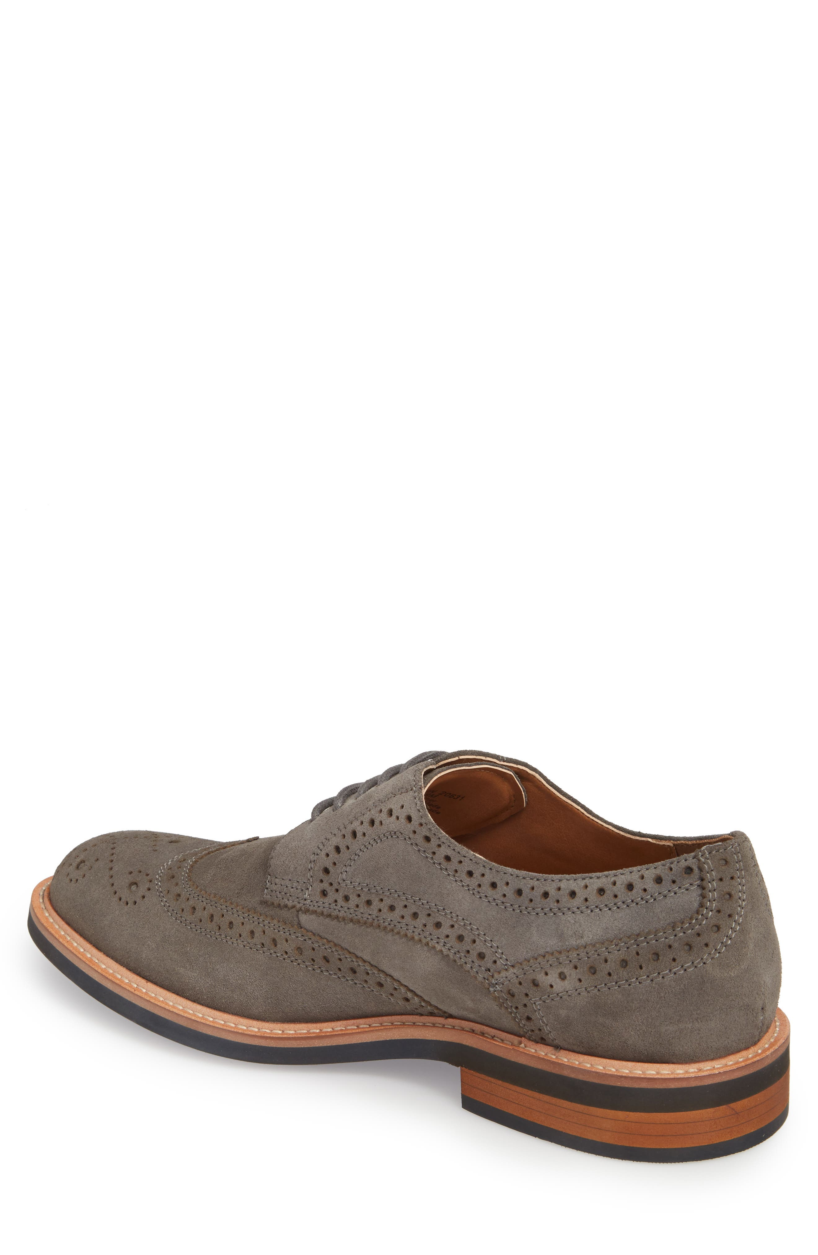 Kenneth Cole Reaction Wingtip,                             Alternate thumbnail 2, color,                             Grey