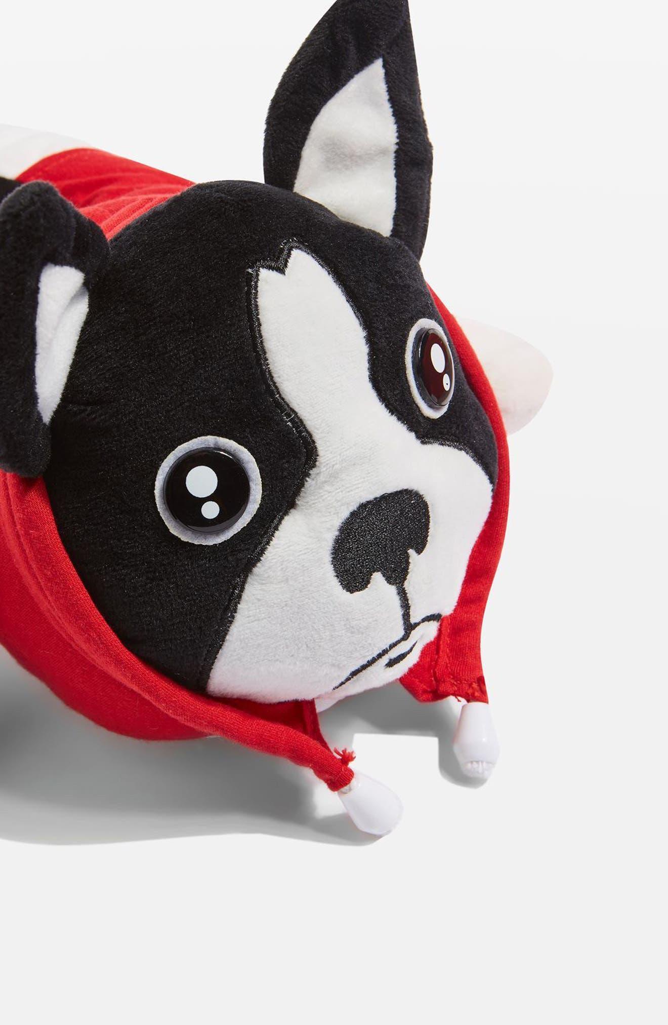 Monty Bulldog Slippers,                             Alternate thumbnail 3, color,                             Red Multi