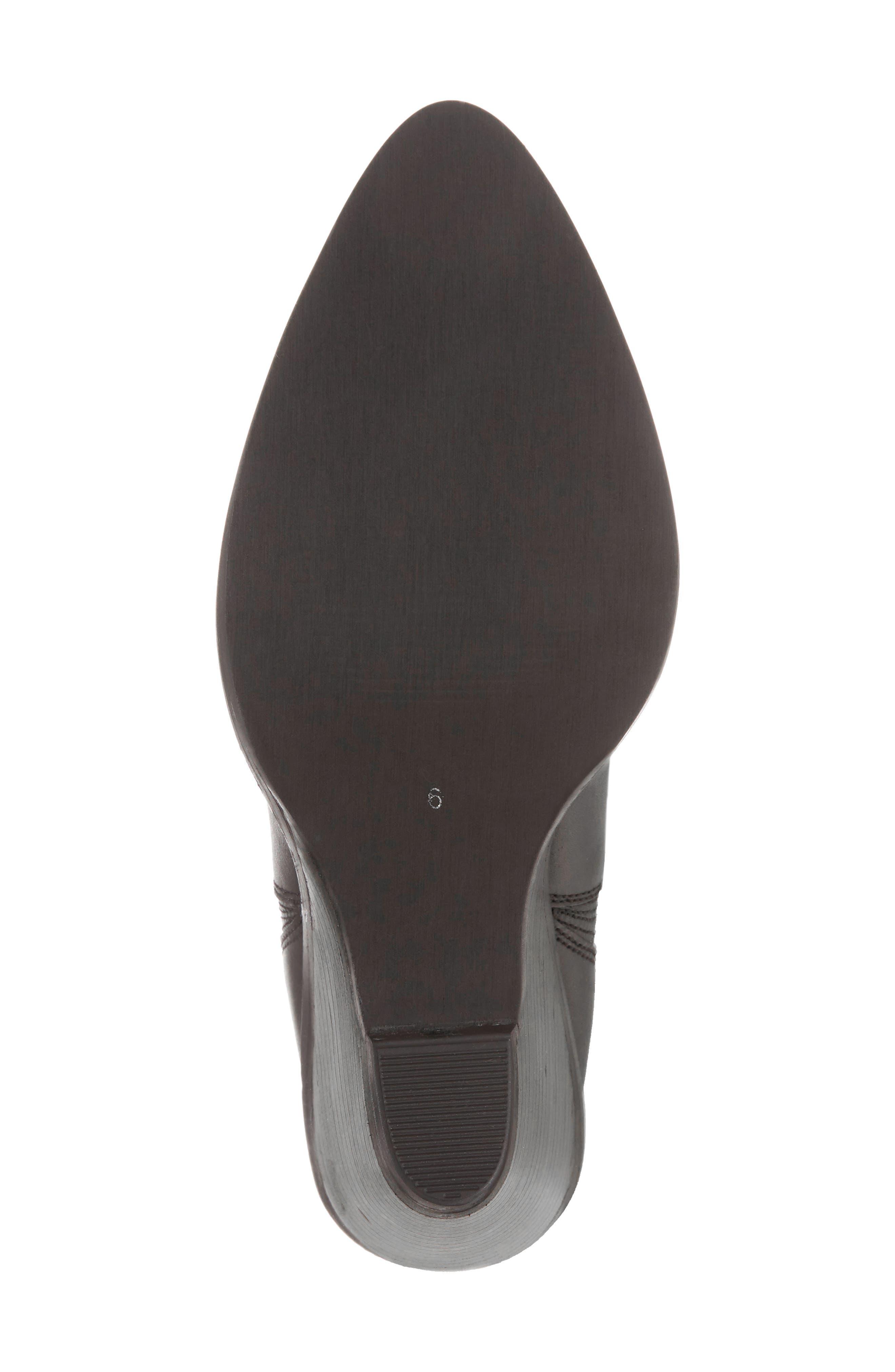 Park Demi Wedge Bootie,                             Alternate thumbnail 6, color,                             Black Leather