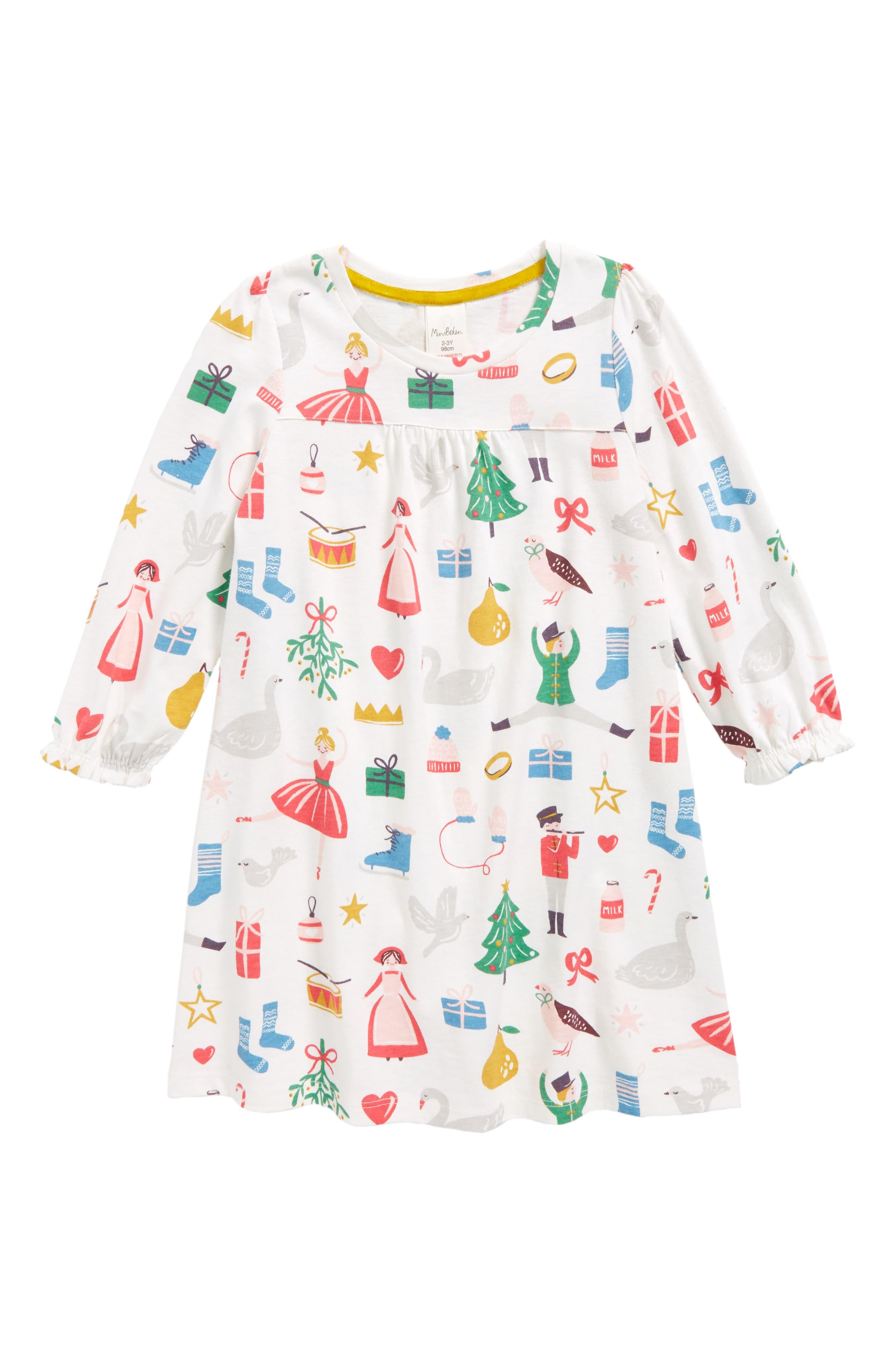 Main Image - Mini Boden Print Nightgown (Toddler Girls, Little Girls & Big Girls)