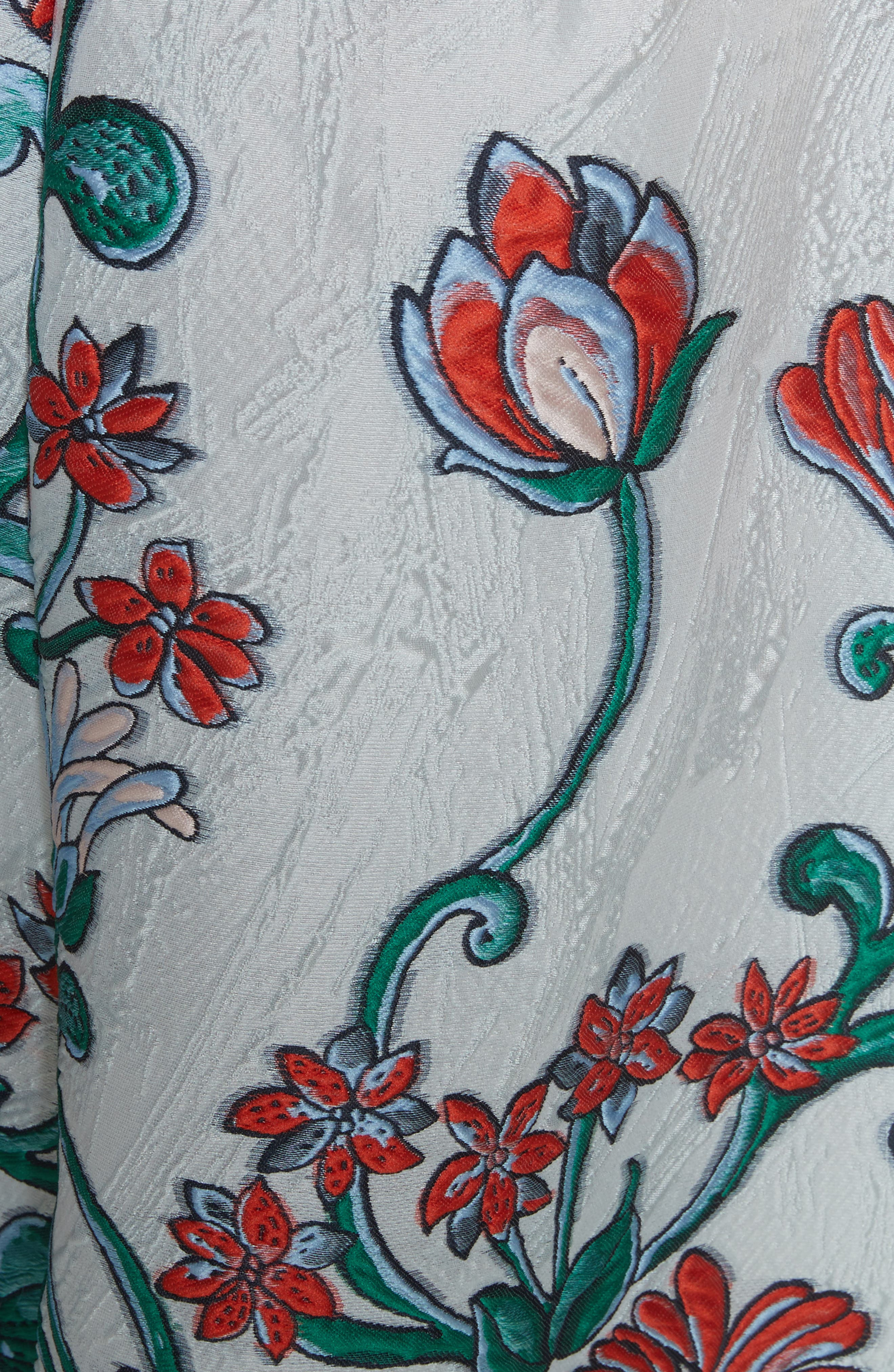 Alternate Image 5  - Lela Rose Tie Back Midi Dress