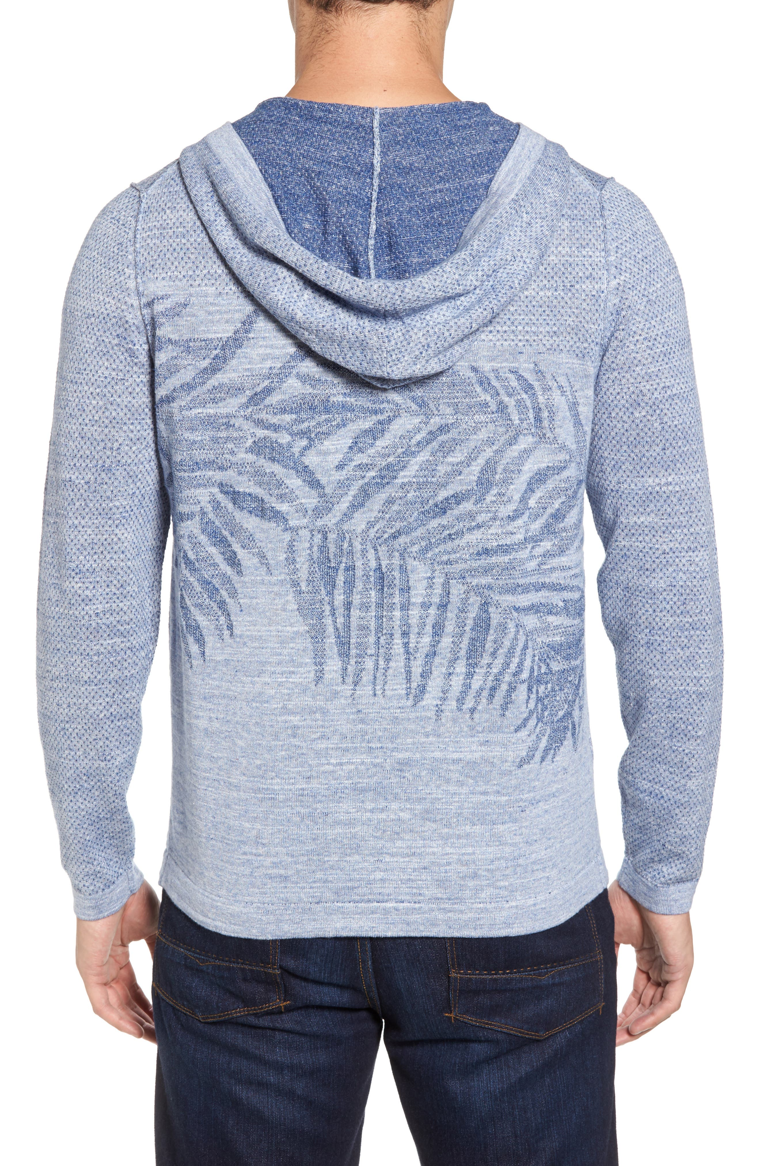 Palmetto Hooded Pullover,                             Alternate thumbnail 2, color,                             Galaxy Blue Heather