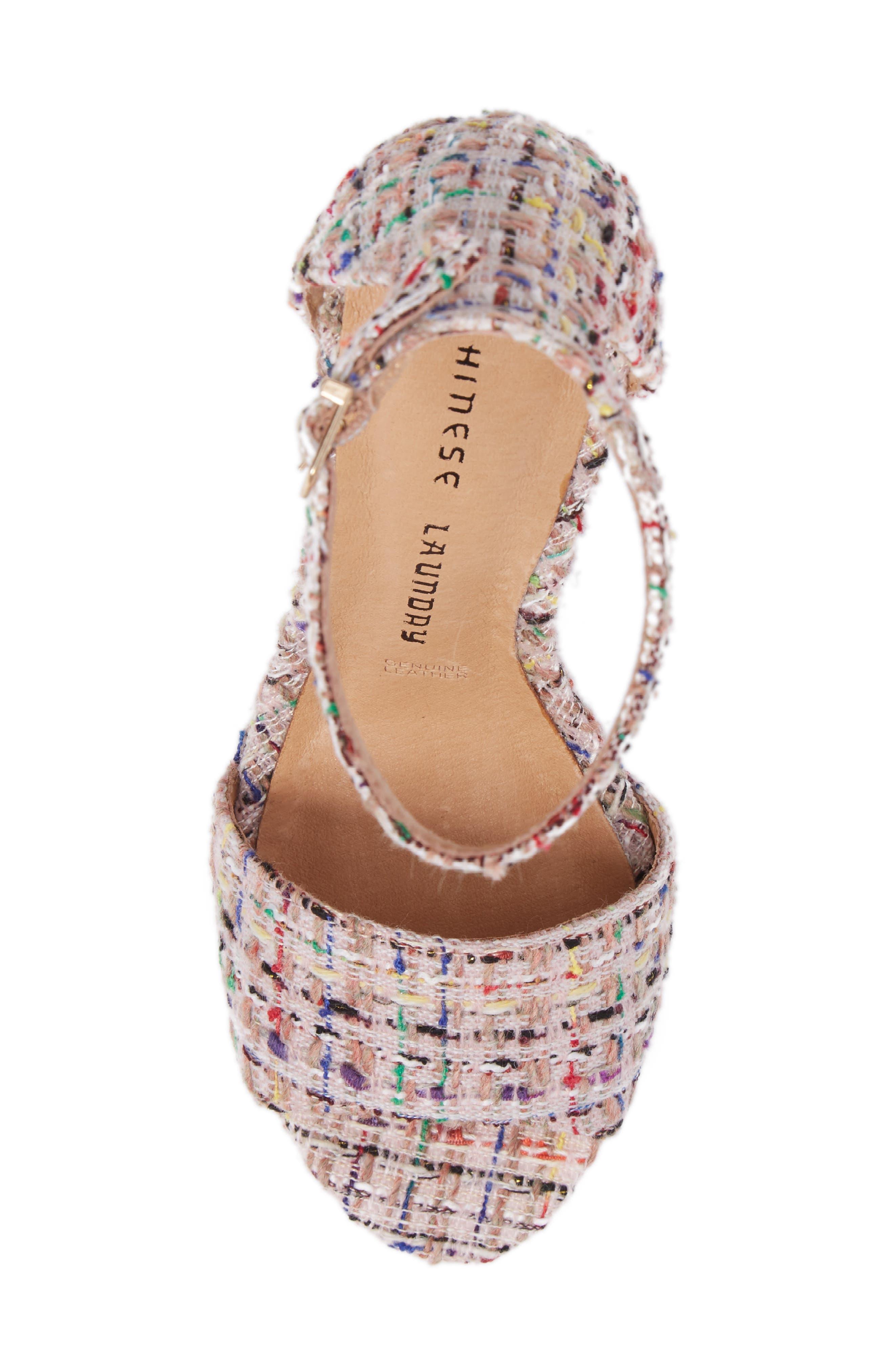 'Avenue' Sandal,                             Alternate thumbnail 5, color,                             Pink Tweed