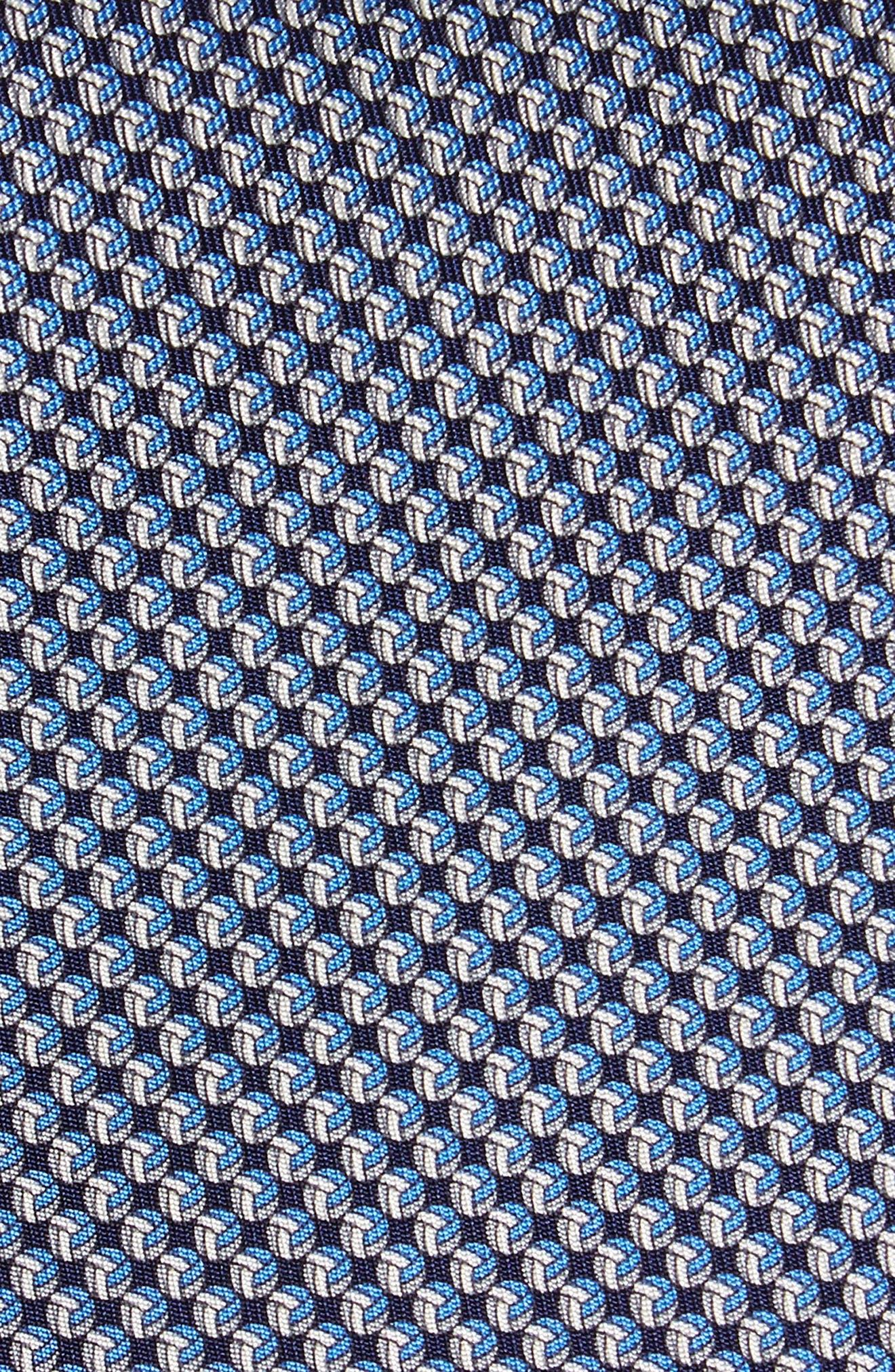 Eta Print Silk Tie,                             Alternate thumbnail 2, color,                             Navy