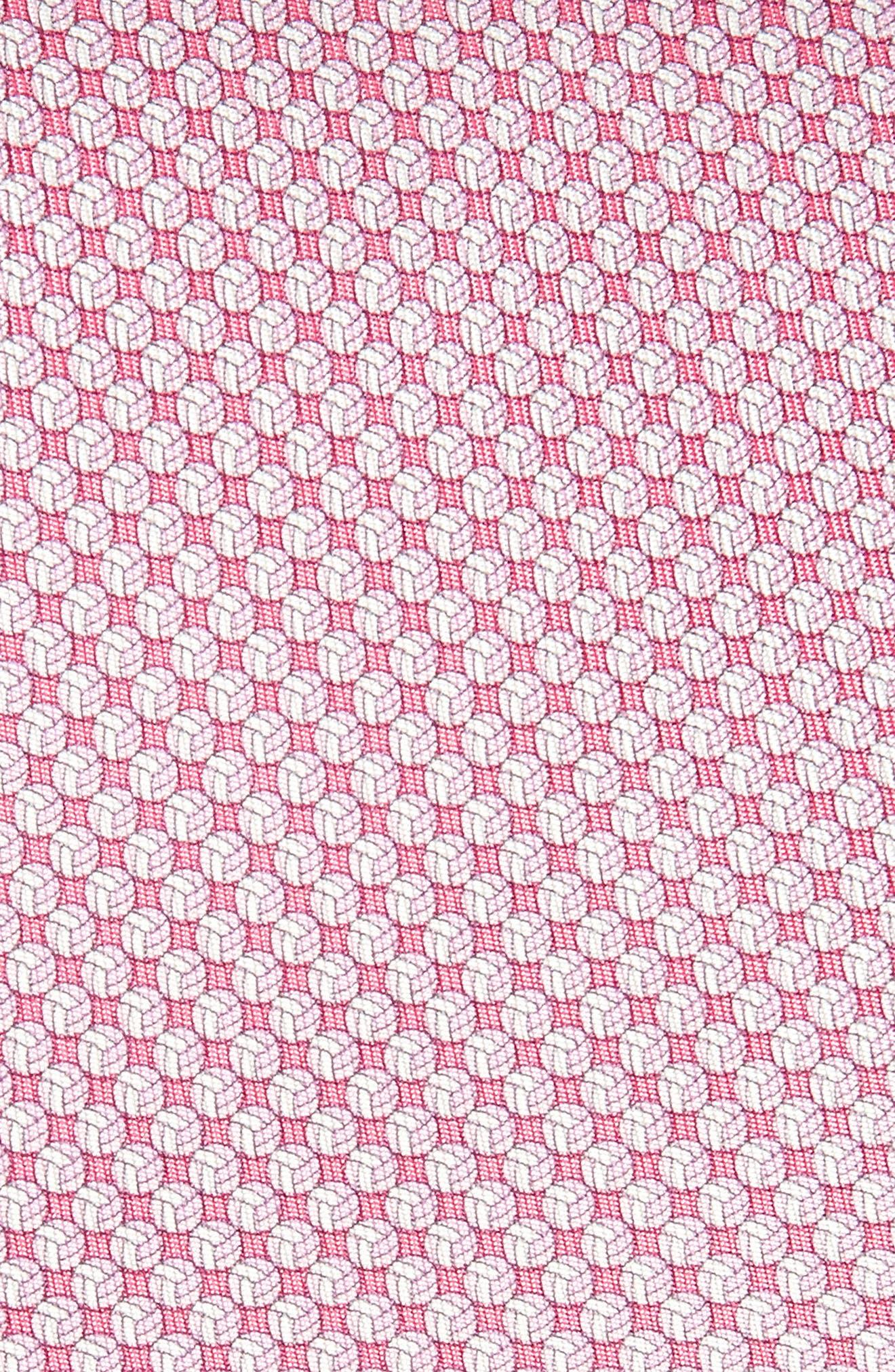 Eta Print Silk Tie,                             Alternate thumbnail 2, color,                             Pink