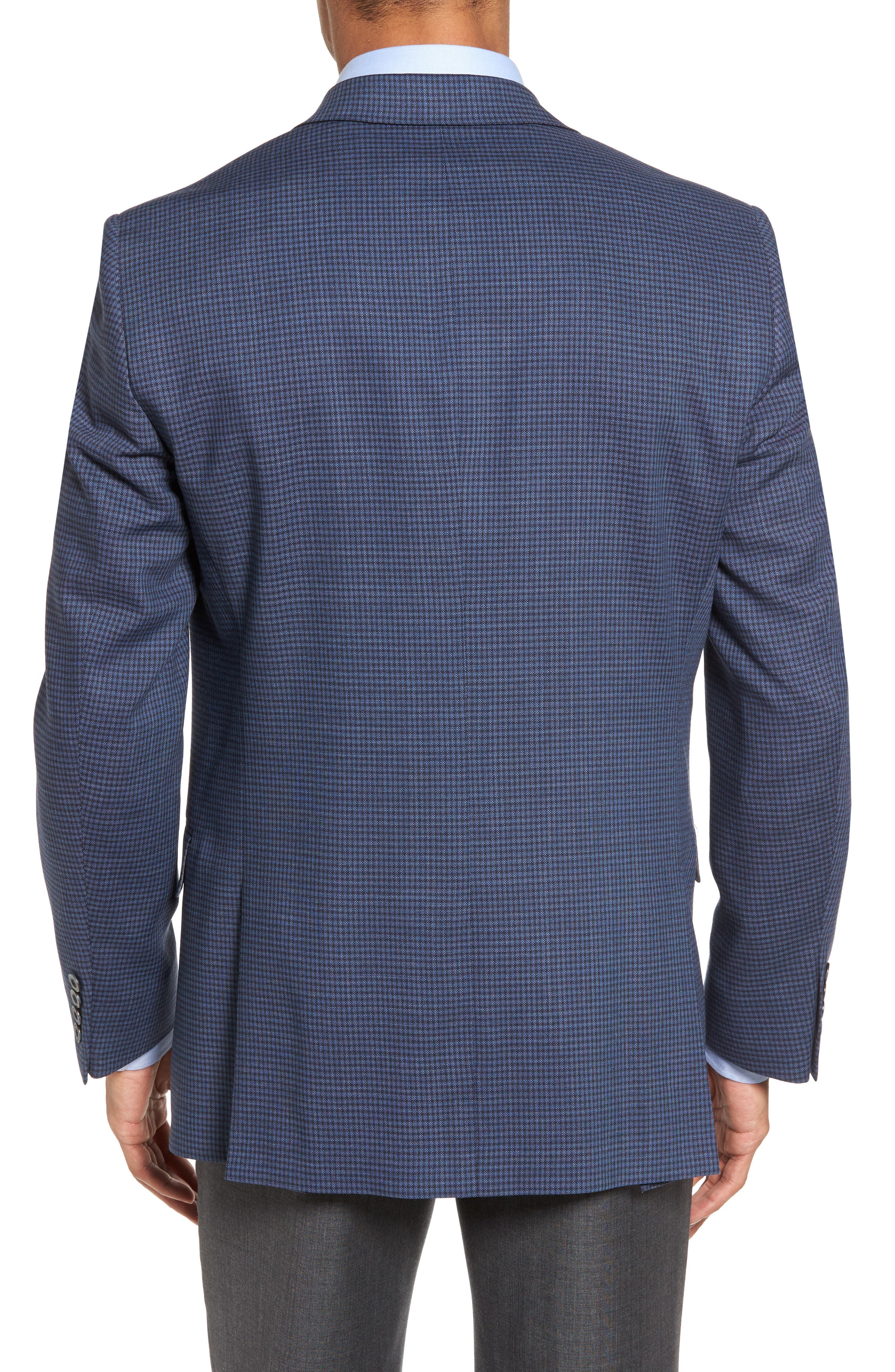 Classic Fit Stretch Check Wool Sport Coat,                             Alternate thumbnail 2, color,                             Navy