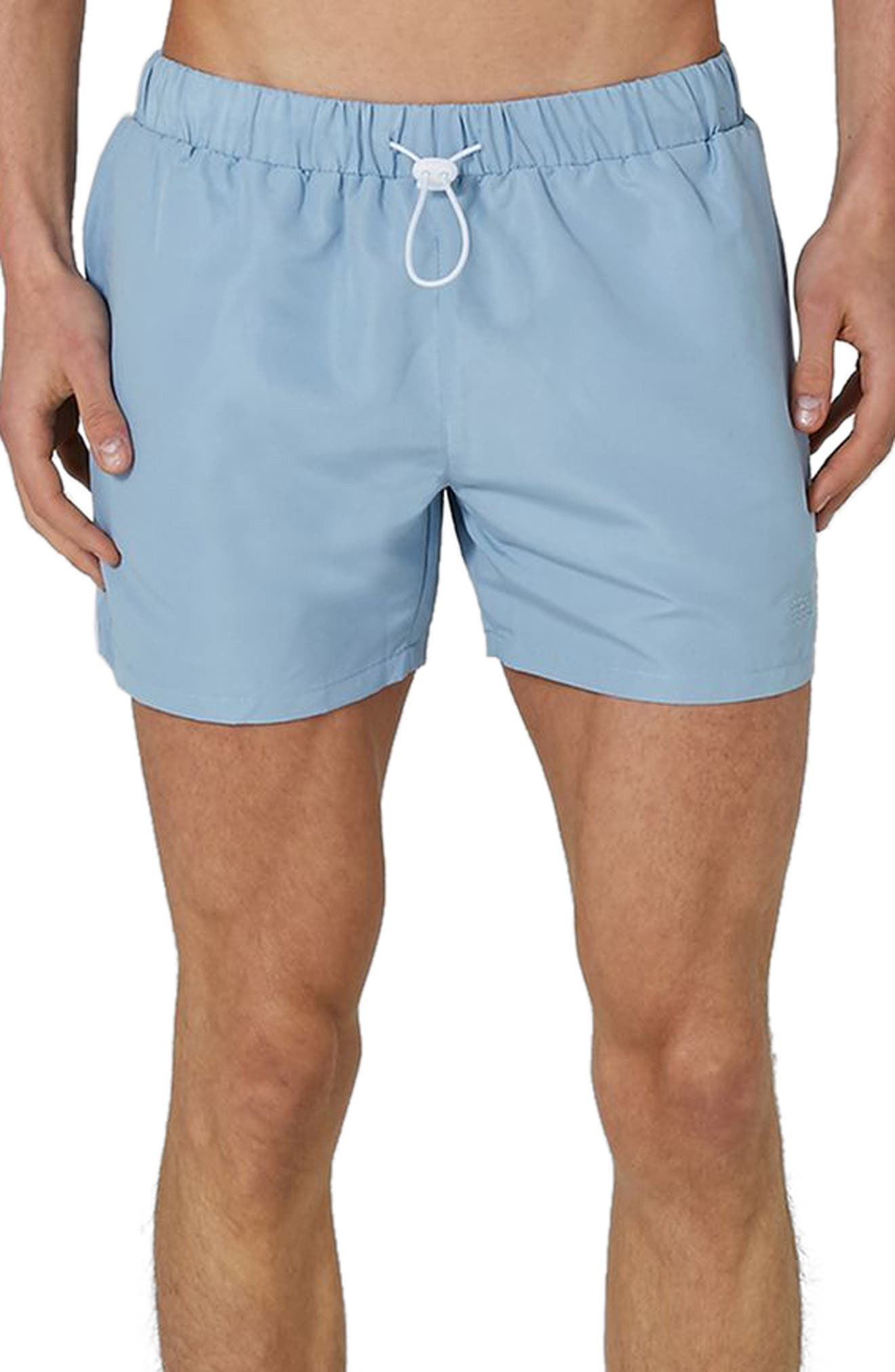 Neptune Swim Trunks,                         Main,                         color, Mid Blue