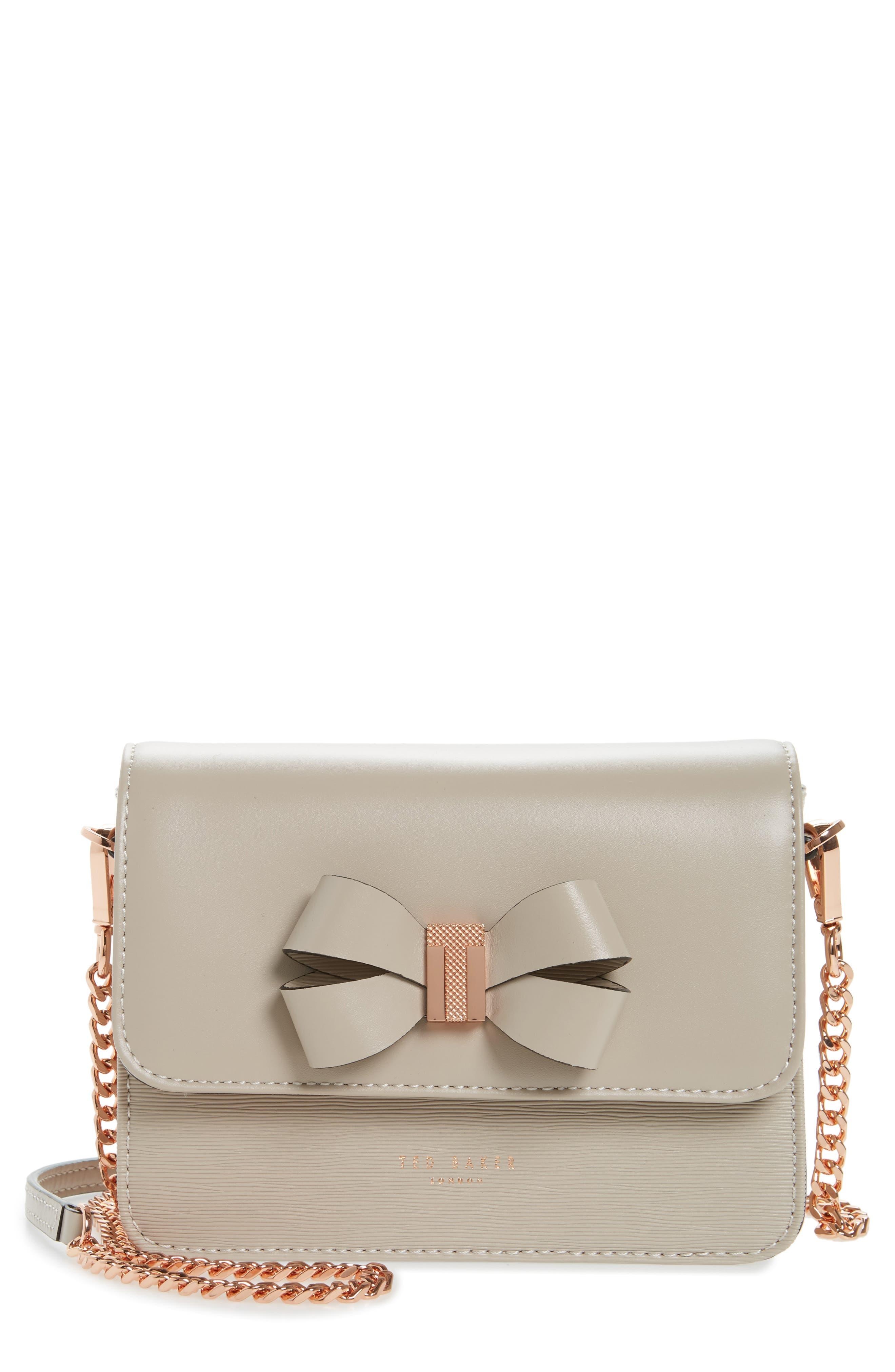 Ted Baker London Callih Bow Leather Crossbody Bag
