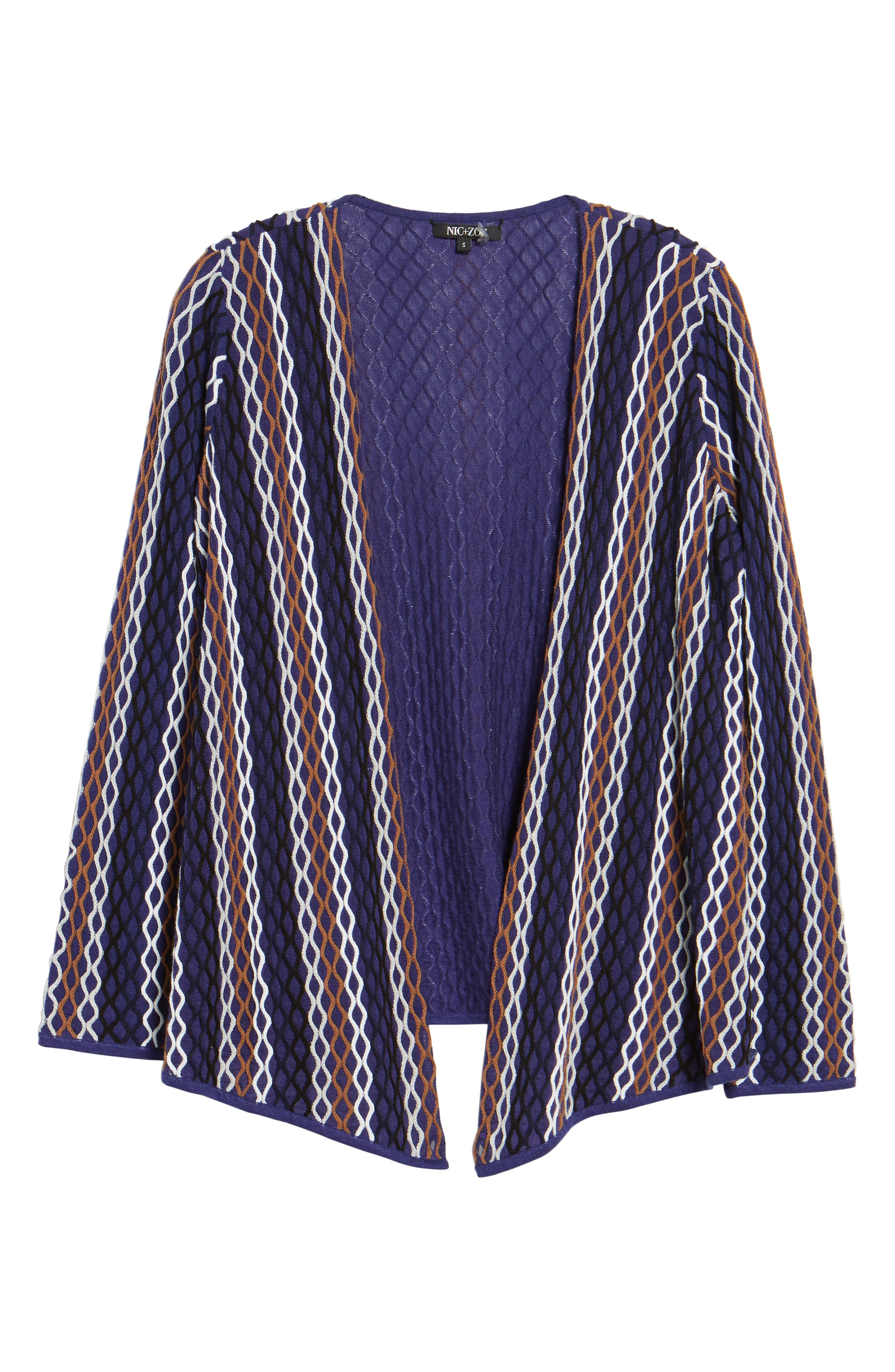 NIC+ ZOE Squiggled Up 4-Way Convertible Cardigan,                             Alternate thumbnail 6, color,                             Blue Multi