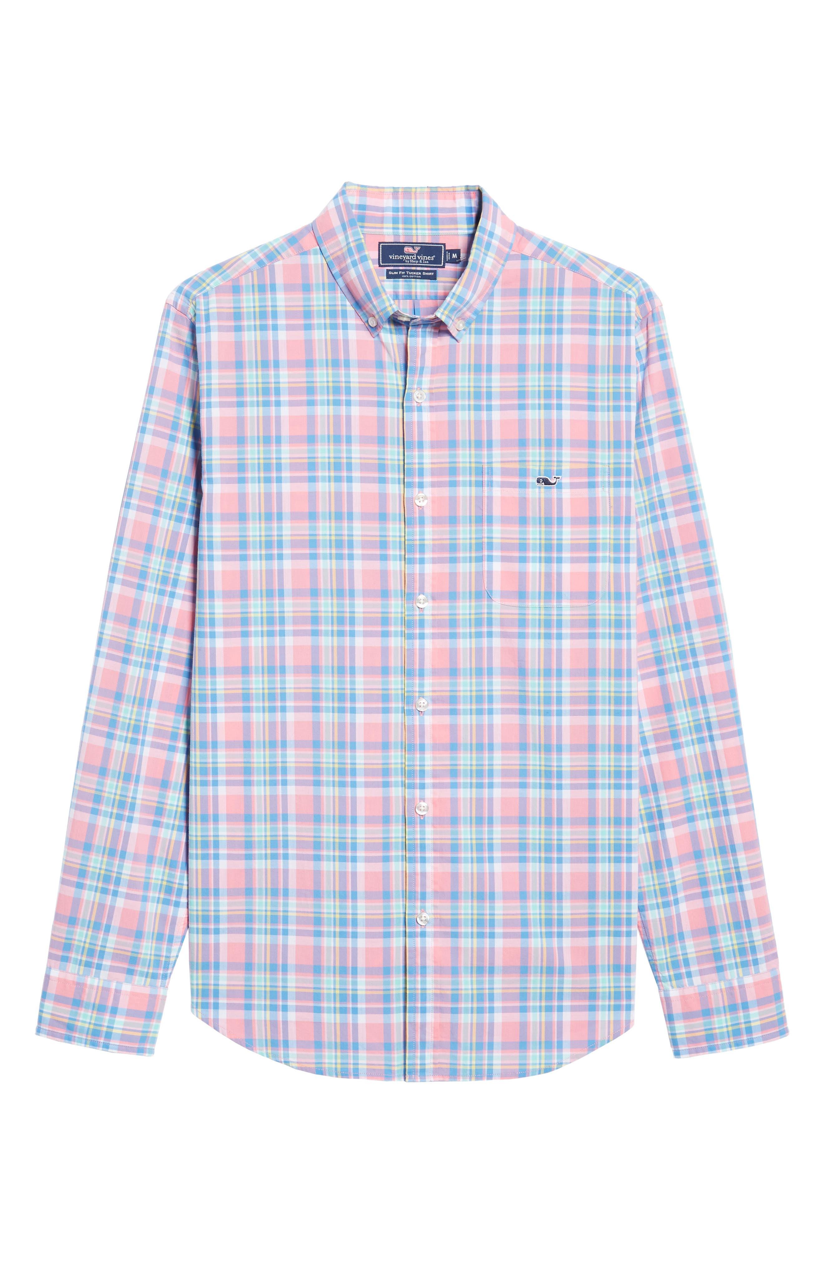 Alternate Image 6  - vineyard vines Cape Haze Tucker Slim Fit Plaid Sport Shirt