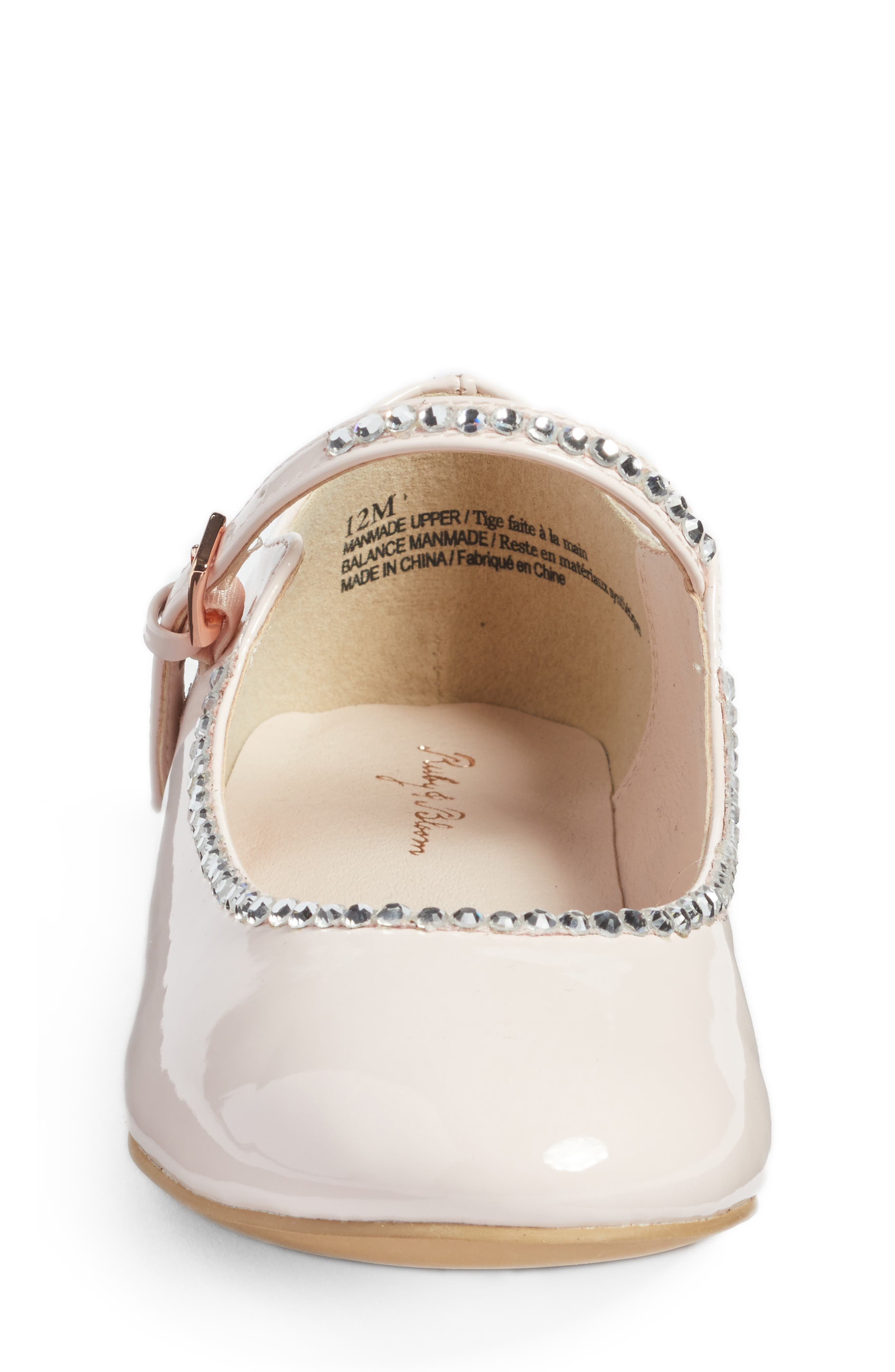 Harlow Embellished Mary Jane,                             Alternate thumbnail 4, color,                             Pale Pink Faux Patent